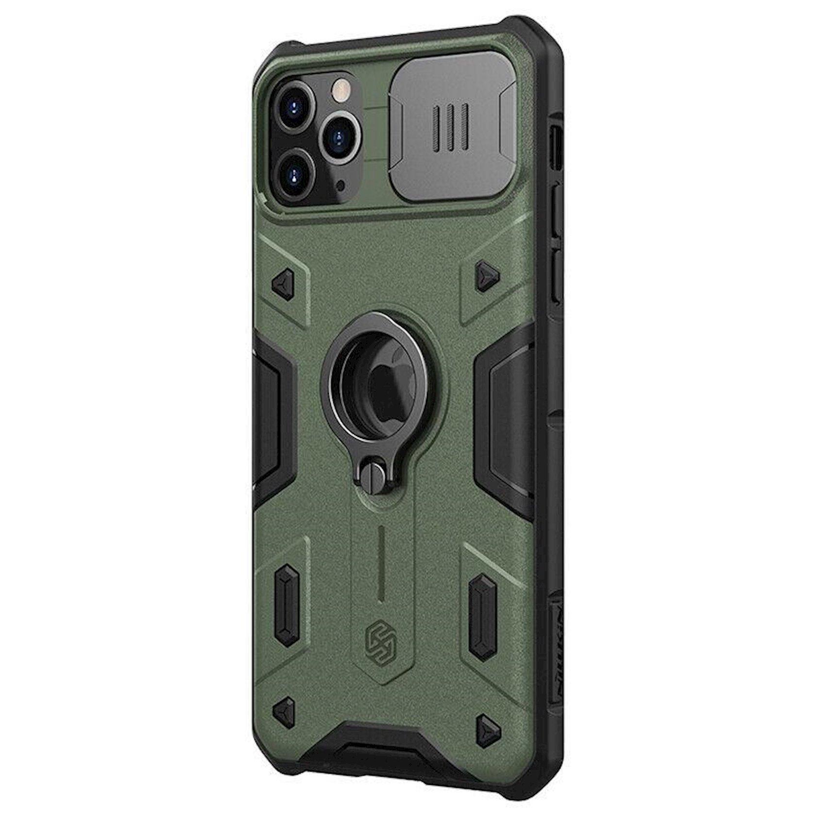 Çexol Nillkin CamShield Armor Apple iPhone 11 Pro Max üçün Green