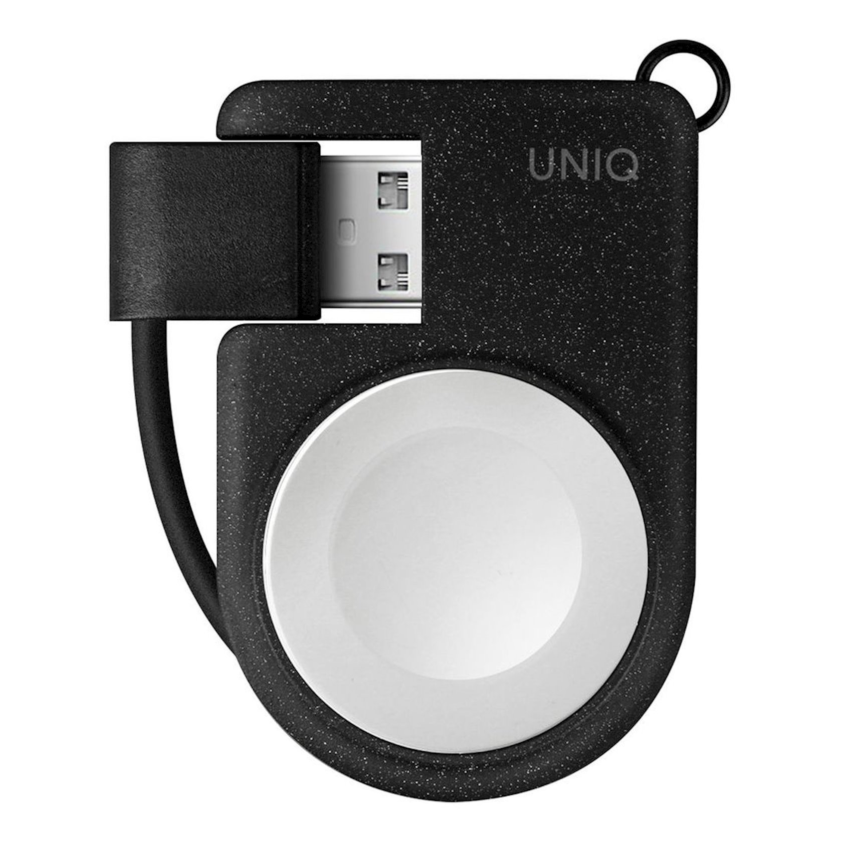 Smart saat üçün simsiz şarj cihazı Uniq Cove MFi Apple Watch üçün qara