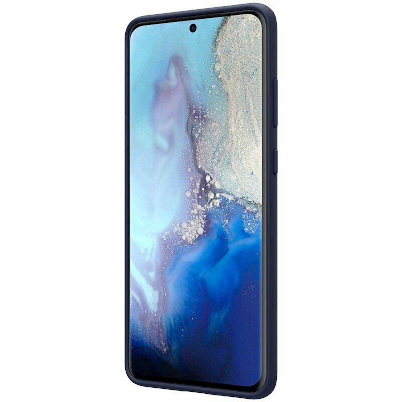 Çexol Nillkin Flex Pure Liquid Silicone Cover Samsung Galaxy S20 üçün Ultra Blue