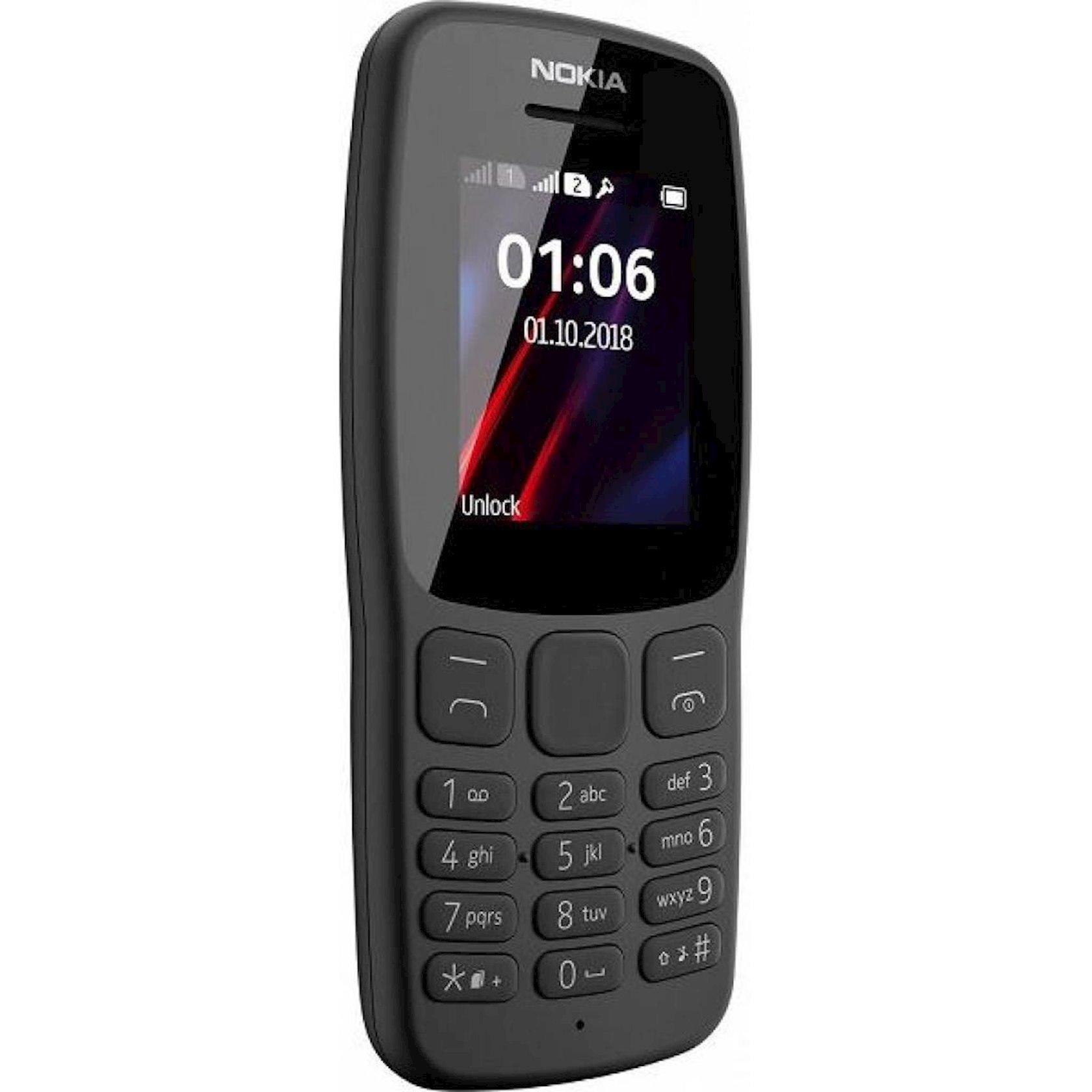 Mobil telefon Nokia 106 DS 2018 Grey