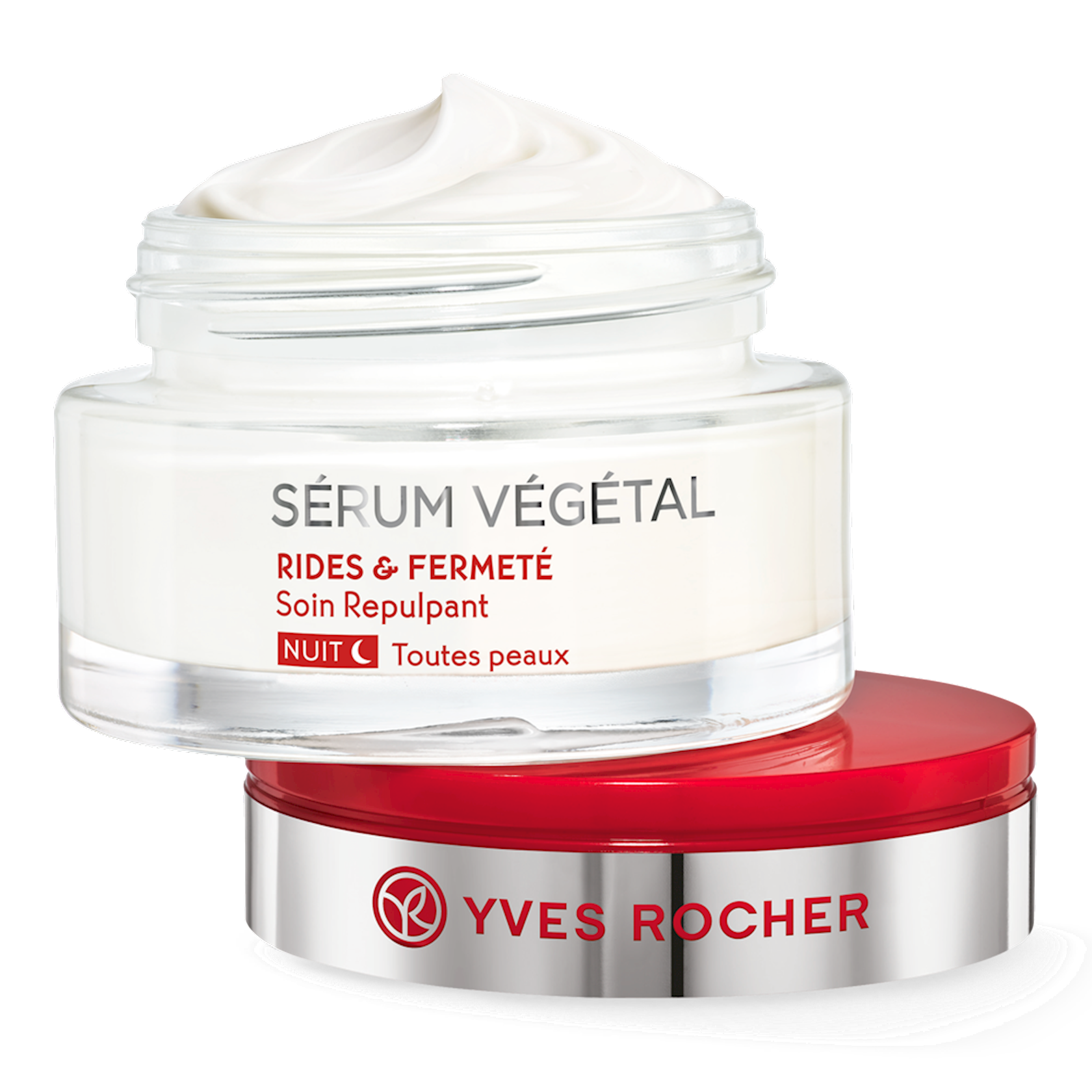 Üz üçün krem Yves Rocher Plumping Night Care - Wrinkles & Firmness