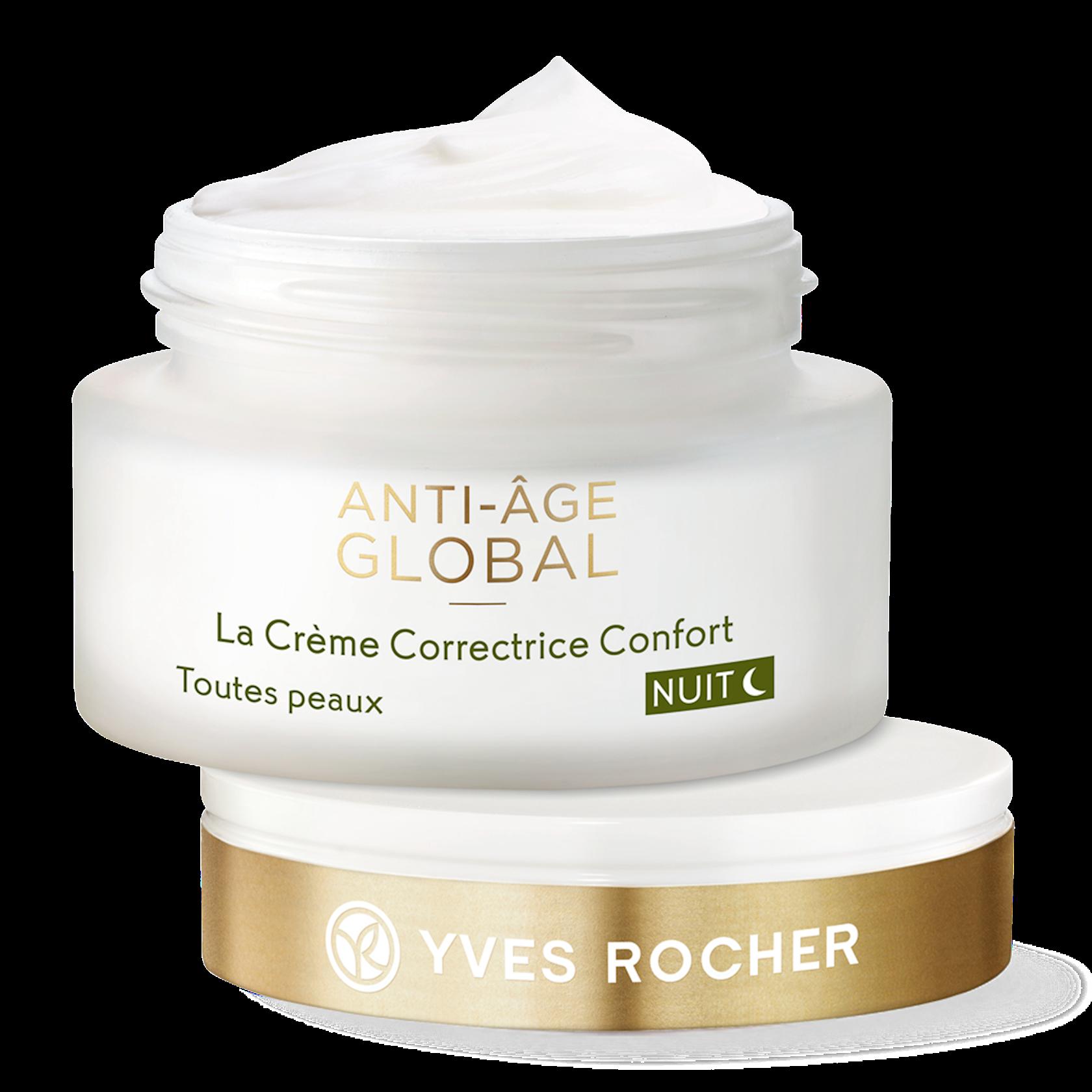 Gecə üz üçün kremi Yves Rocher The Anti-Aging Comfort Cream Night - All Skin Types