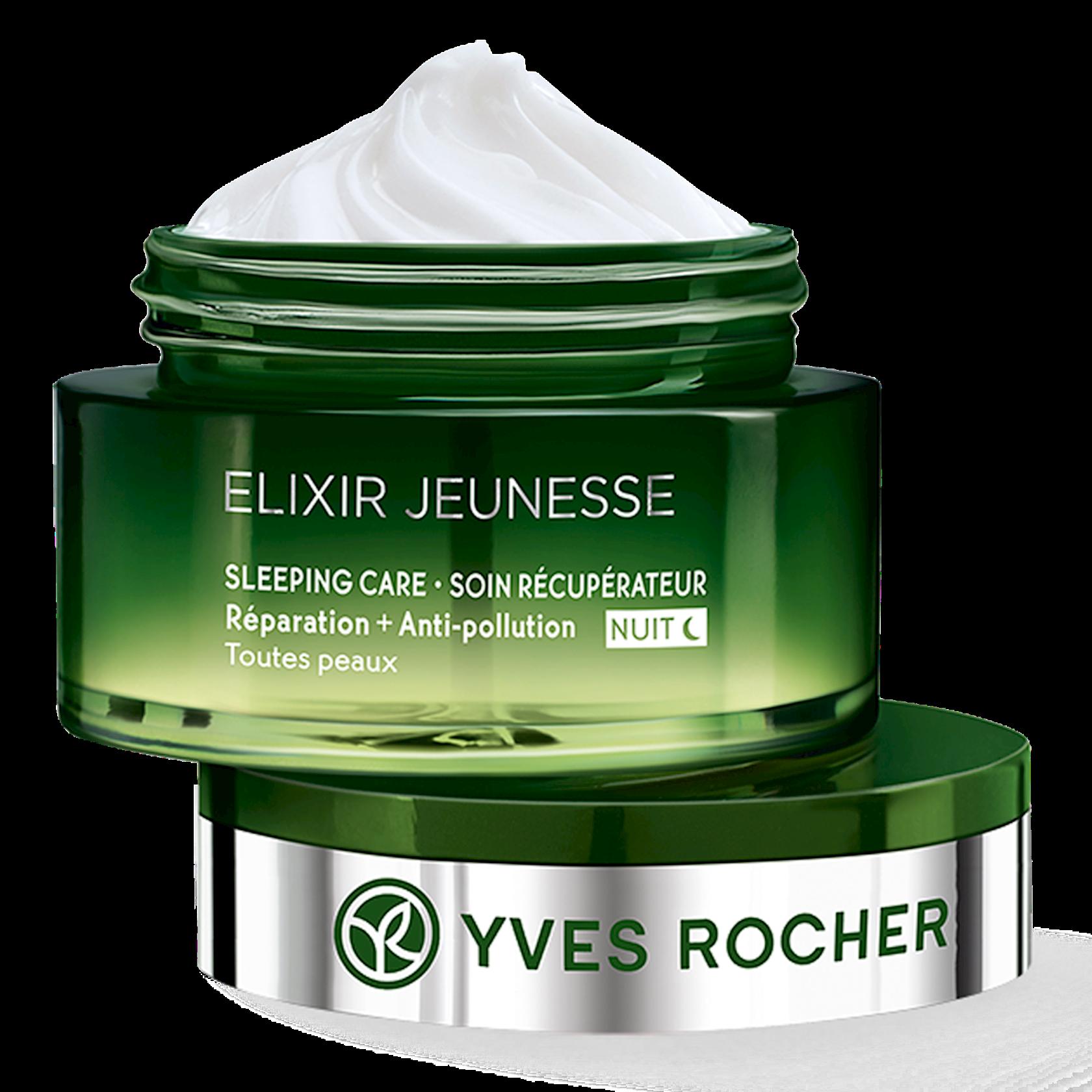 Gecə üz üçün kremi Yves Rocher Soin Récupérateur Nuit Réparation + Anti-pollution - Tous types de peaux