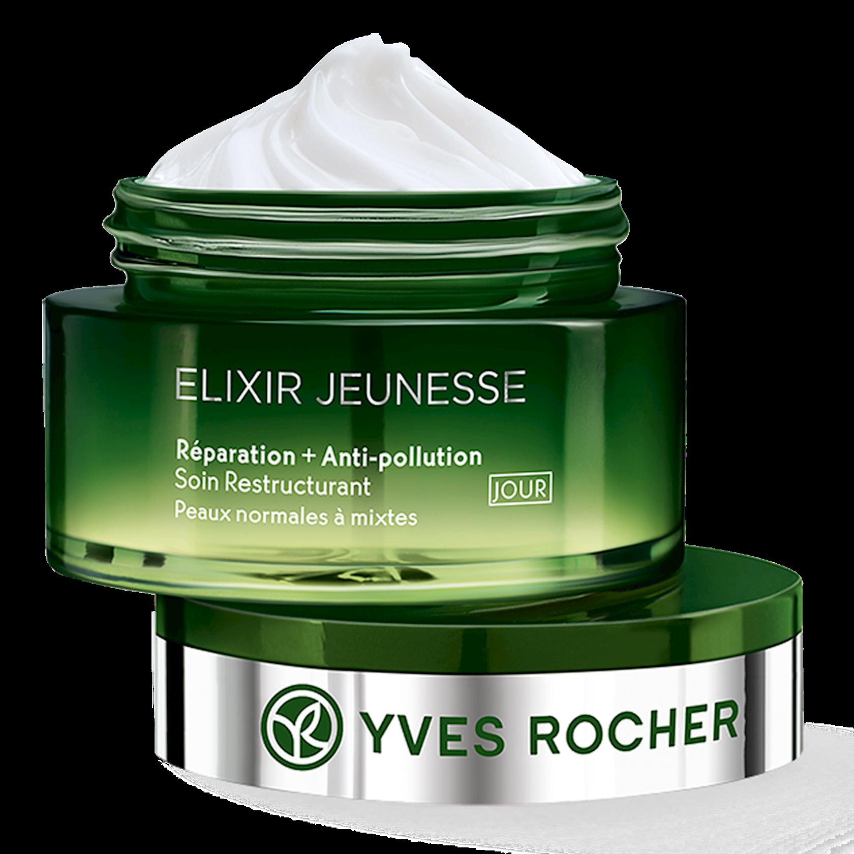 Gündüz üz kremi Yves Rocher Regenerating Day Cream Repair  Antipollution Normal to combination skin 50 ml
