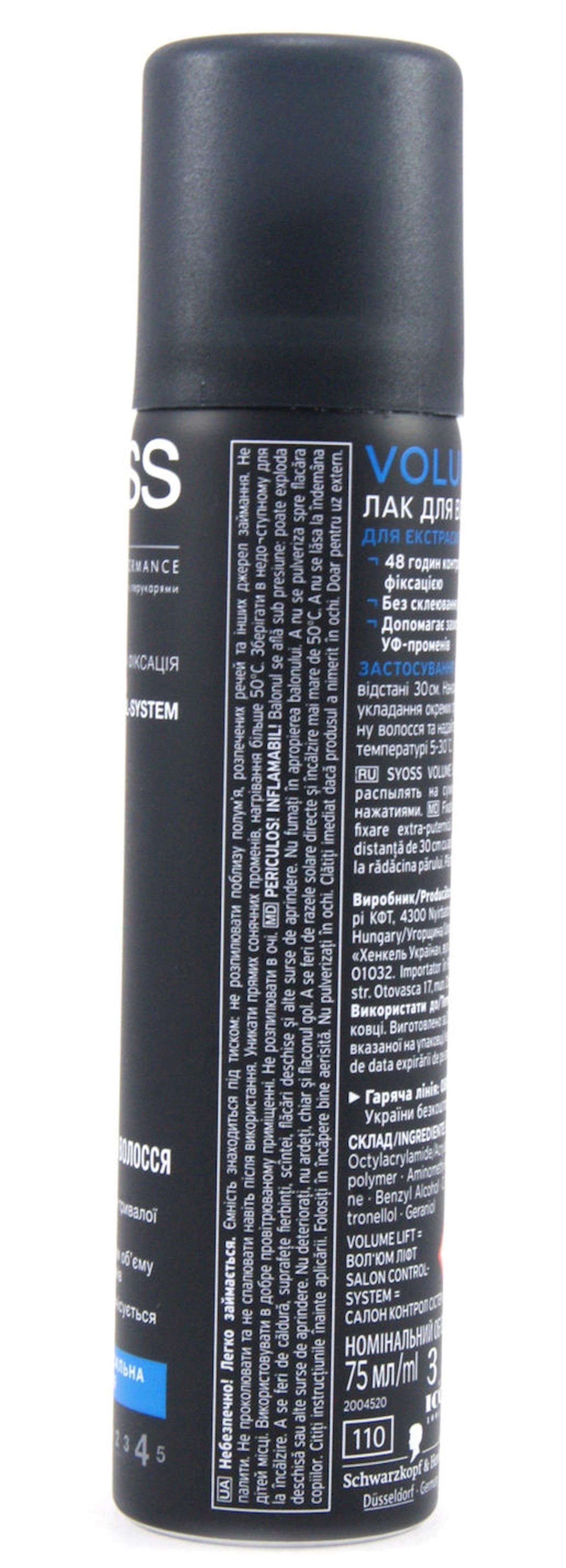 Saç üçün lak Syoss Volume Lift ekstragüclü fiksasiya , 400 ml