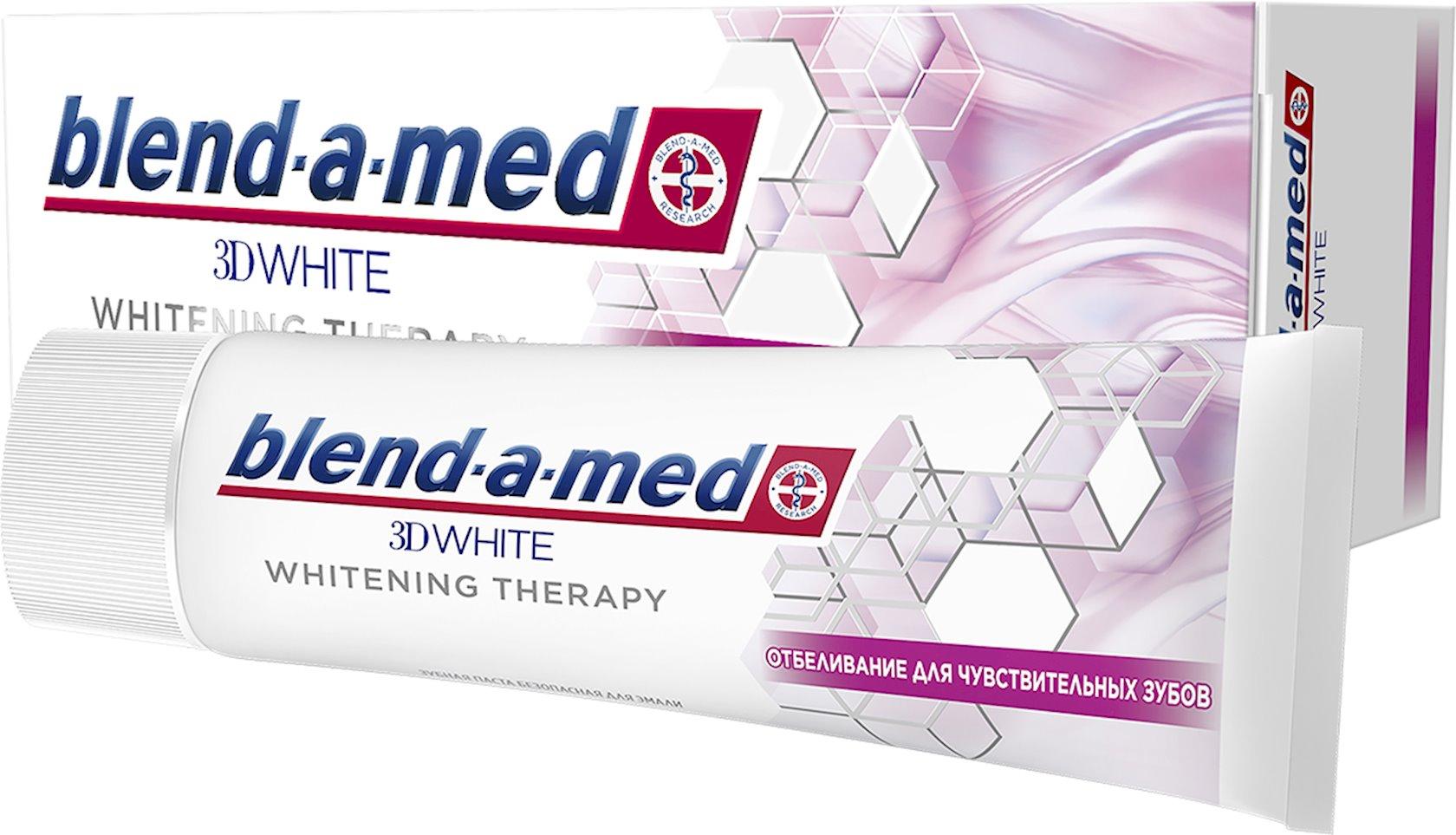 Diş məcunu Blend-a-med 3D White Whitening Therapy ağardıcı ehtiyatlı təmizləmə 75 ml