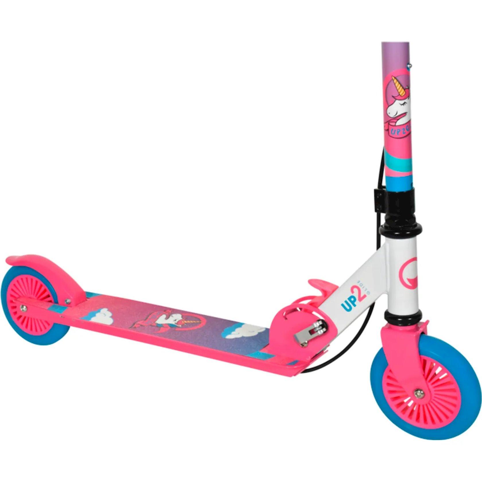 Samokat-kikbord Up2glide Fun & Safe Unicorn, uşaqlar üçün, 6 yaşdan, maksimal çəki 50kq, çəhrayı