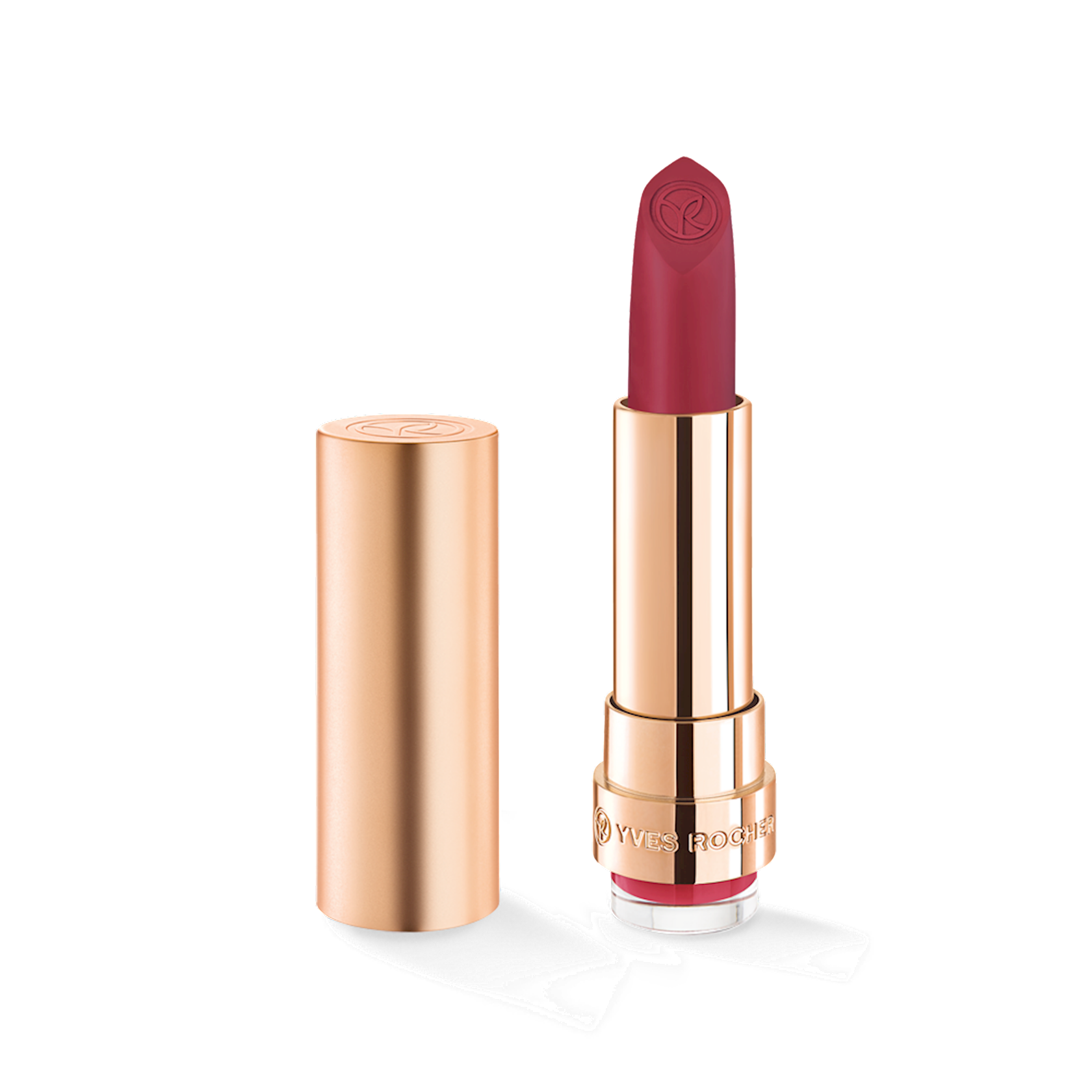 Dodaq üçün pomada Yves Rocher Matte lipstick Yves Rocher Grand Rouge 152. Rose Framboise