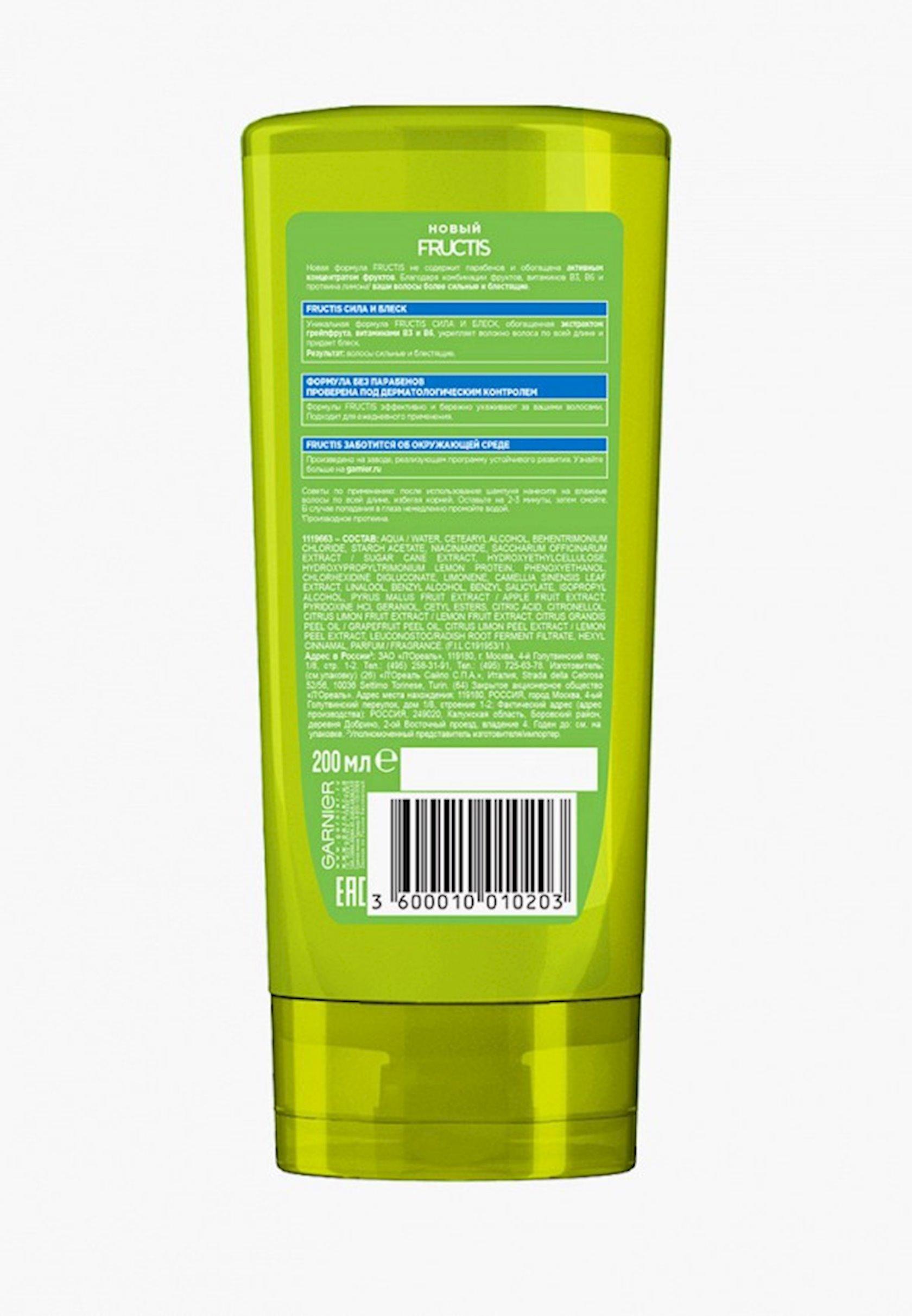 Balzam Garnier Fructis Strength and Shine gücləndirici, normal saçlar üçün