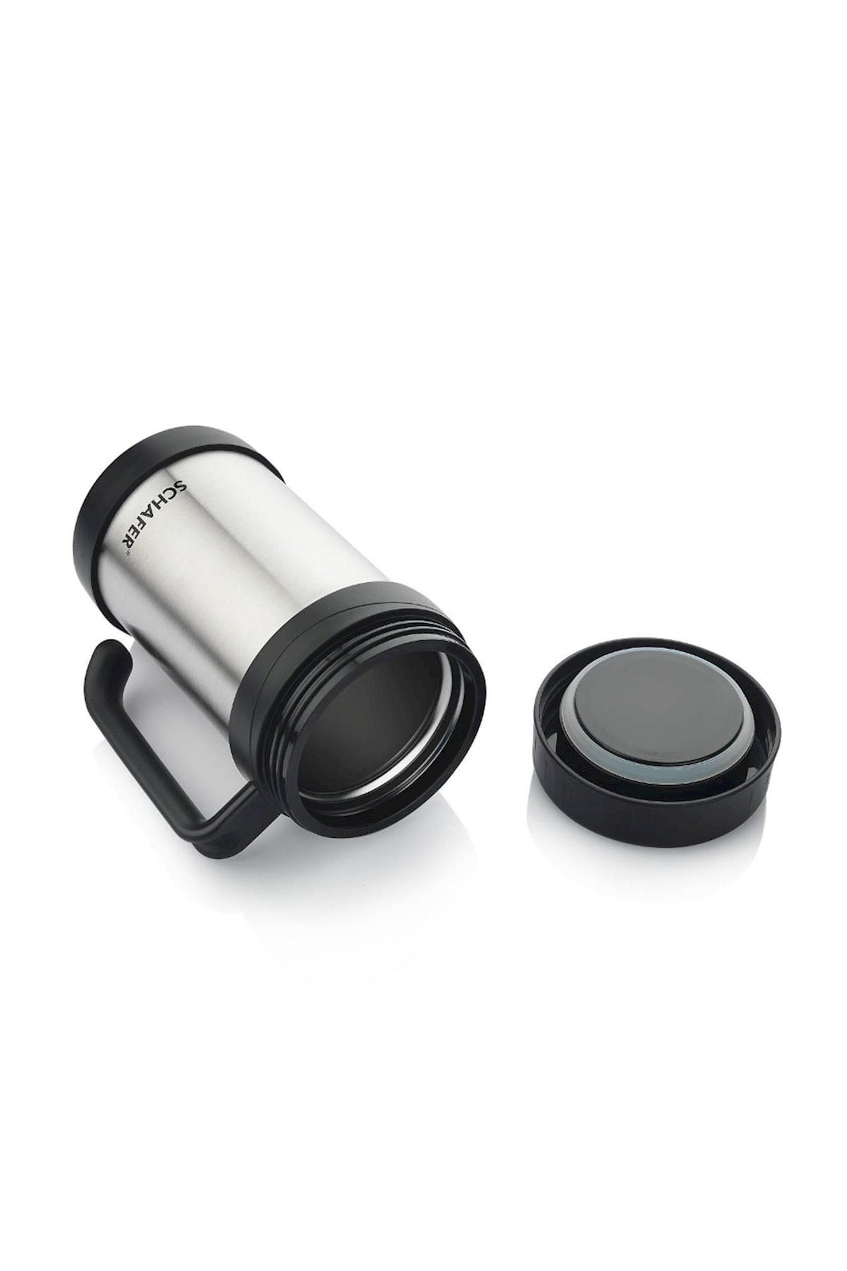 Termofincan Schafer Iron Man Thermos Cup, 500 ml, qara