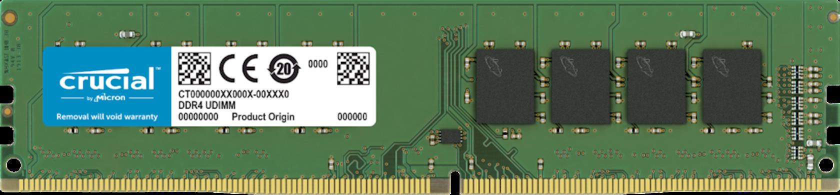 Operativ yaddaş Crucial 16GB DDR4-2666 UDIMM 2666MHz
