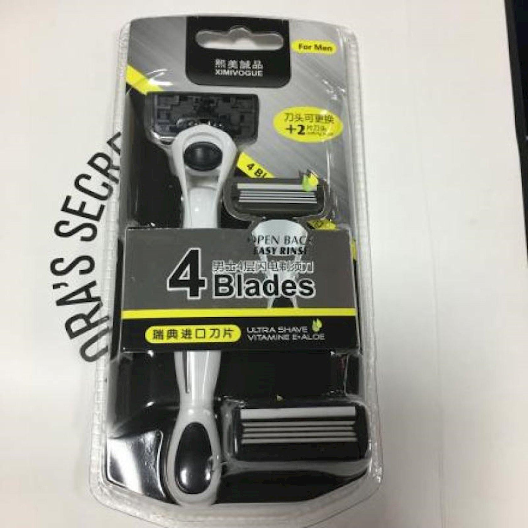 Станок для бритья  Ximivogue Lighting Razor с 4 сменными кассетами