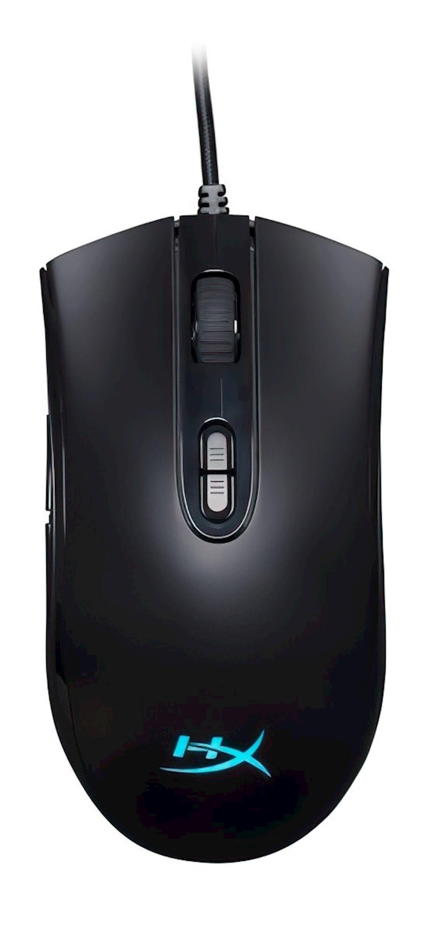 Optik lazerli simsiz siçan HyperX Pulsefire Core Black