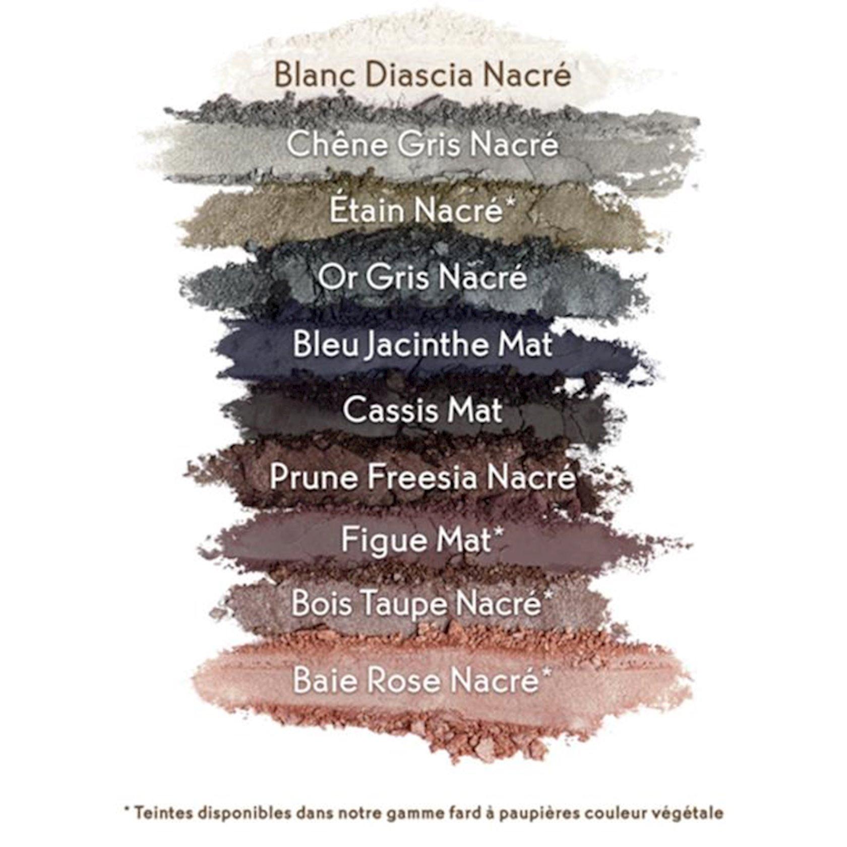 Göz kölgələri Yves Rocher Botanical Color Pallete, 02 Smoky, 10 çalar