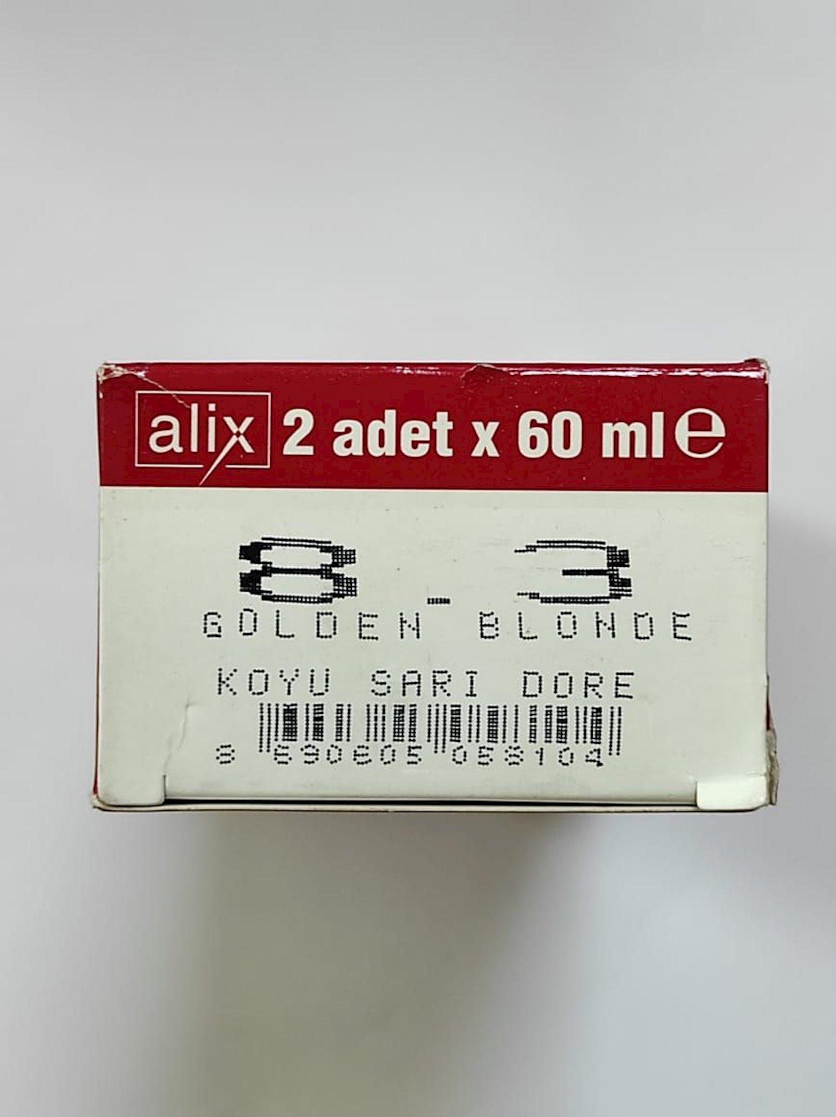 Saçlar üçün krem-boya Alix Professional Cream Hair Dye 8.3 Golden blonde 60 ml