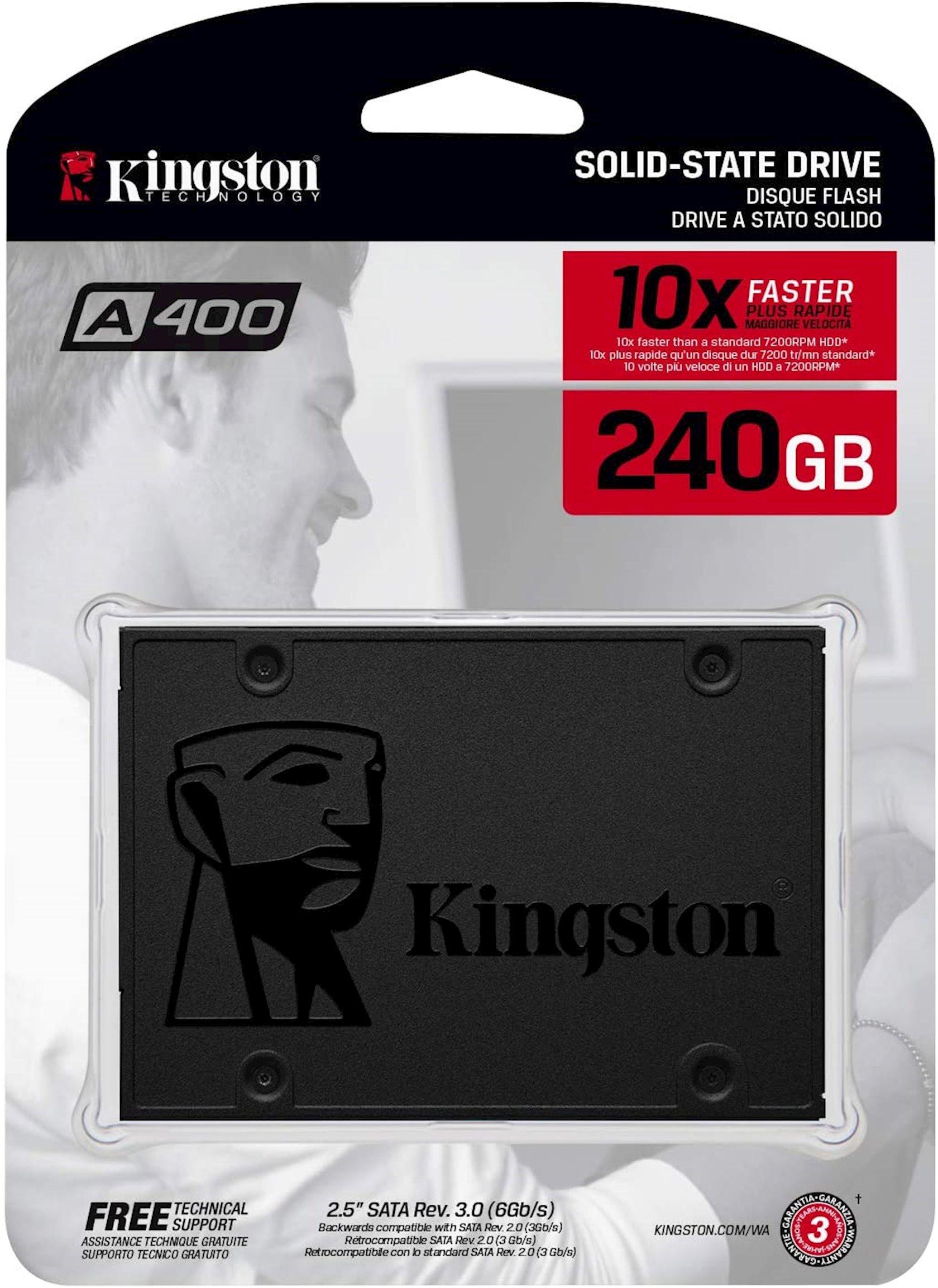 Disk SSD Kingston 240GB A400 SATA3 2.5 SSD (7mm height)
