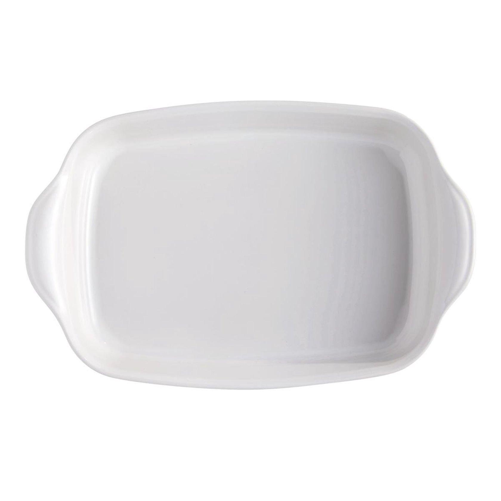 Bişirmə qabı Emile Henry, 42x27 sm, keramika, ağ