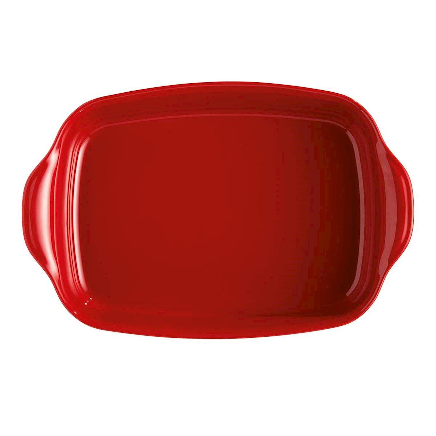 Bişirmə qabı Emile Henry, 42x27 sm, keramika, qırmızı