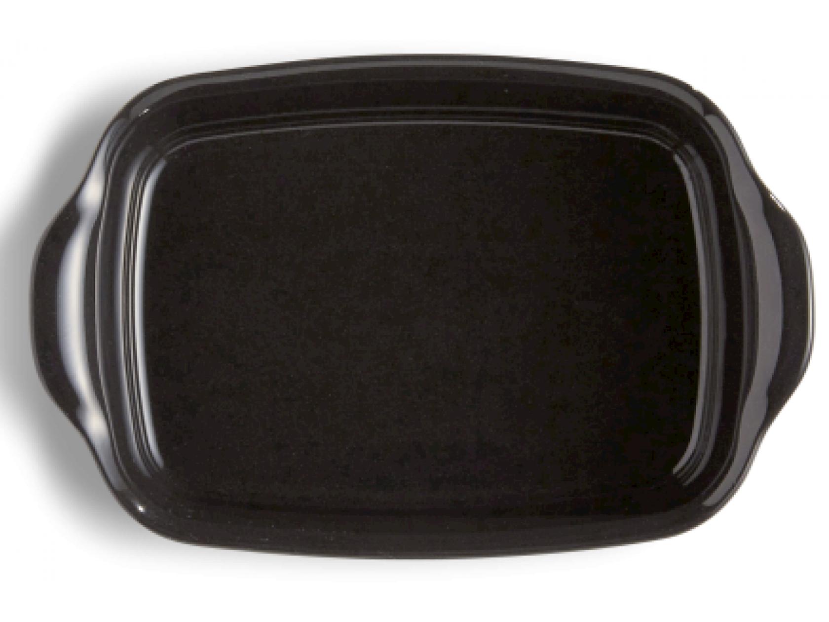 Bişirmə qabı Emile Henry, 42x27 sm, keramika, qara