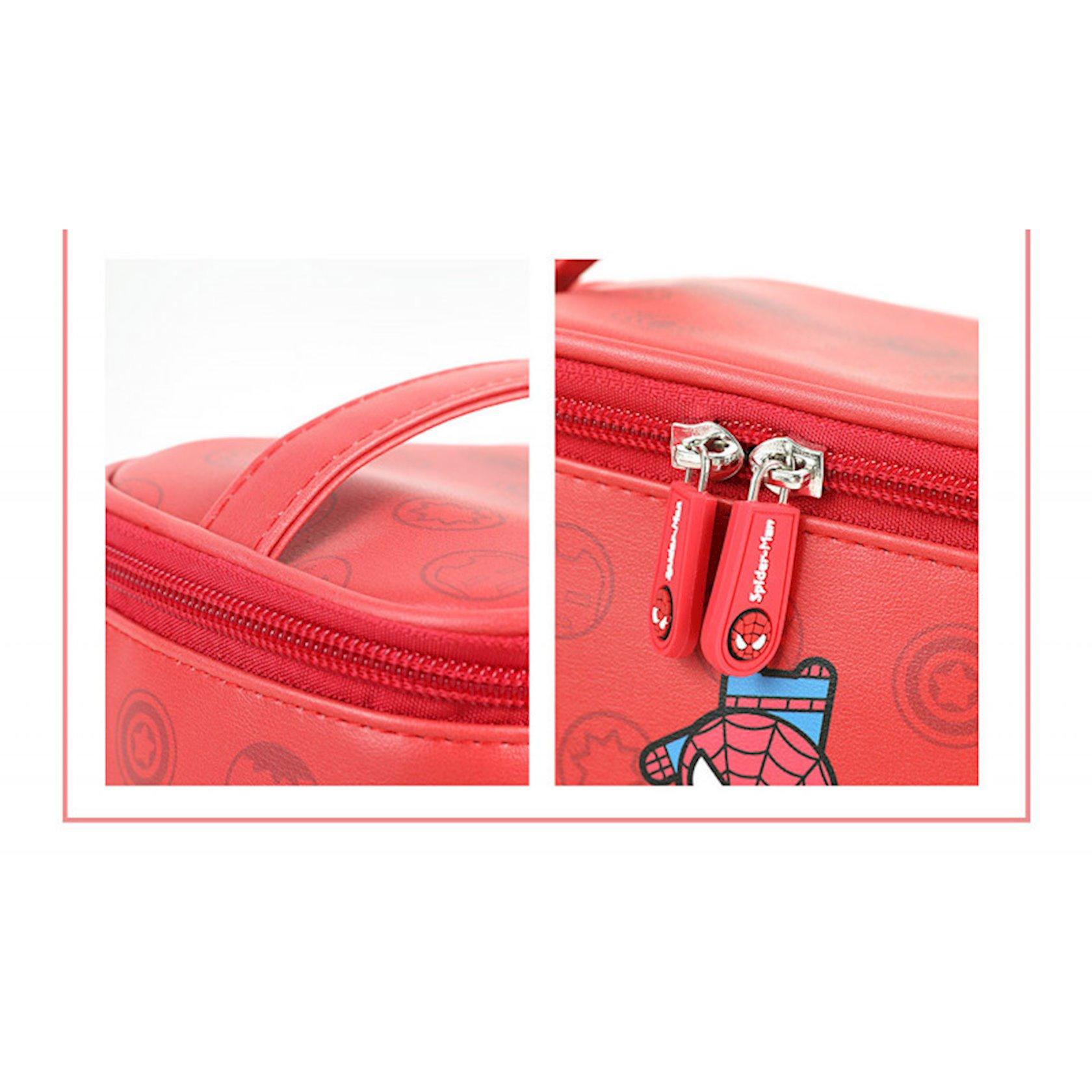 Kosmetika çantası Miniso Marvel Red