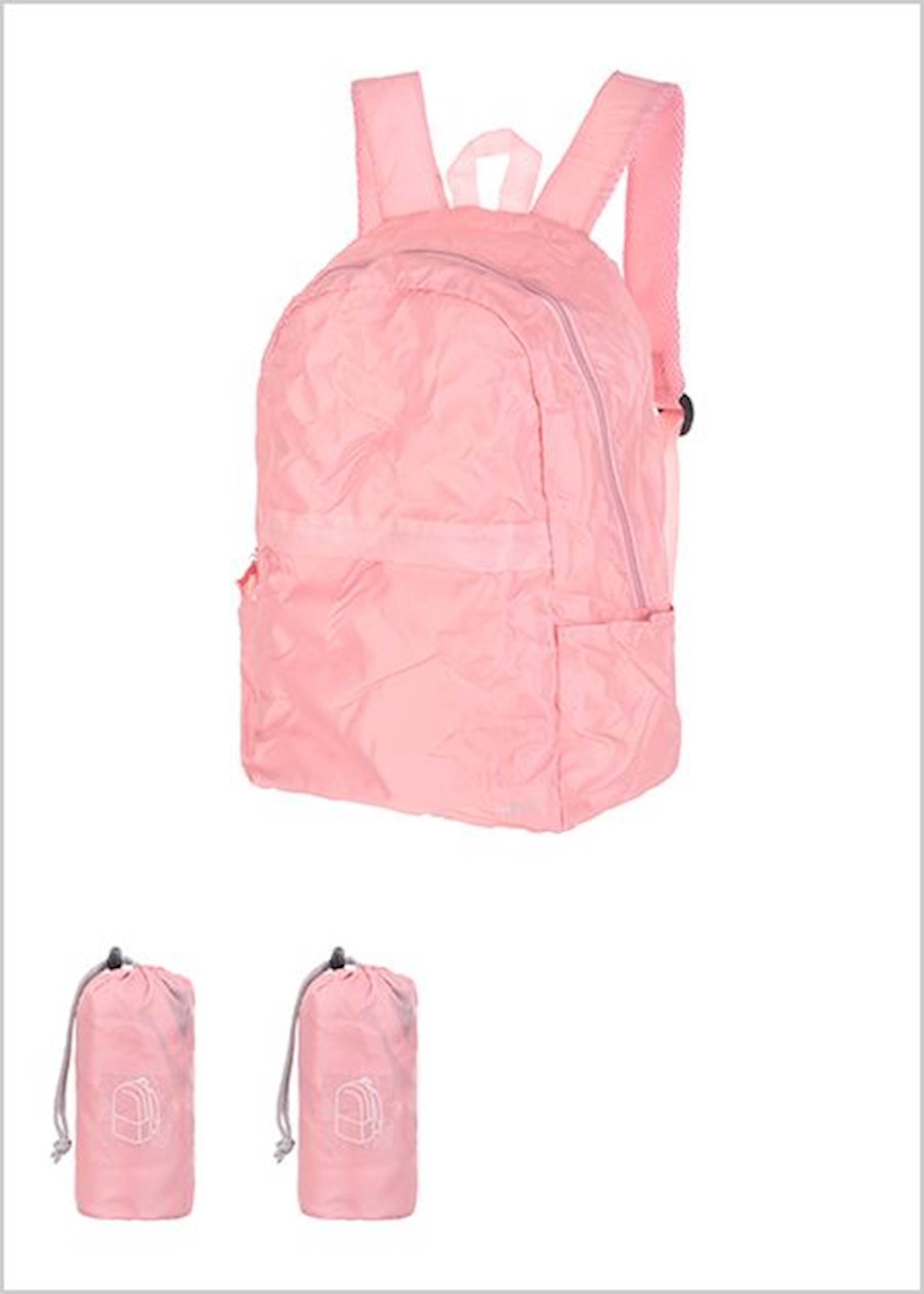 Qatlanan bel çantası Miniso Foldable Backpack(Pink)