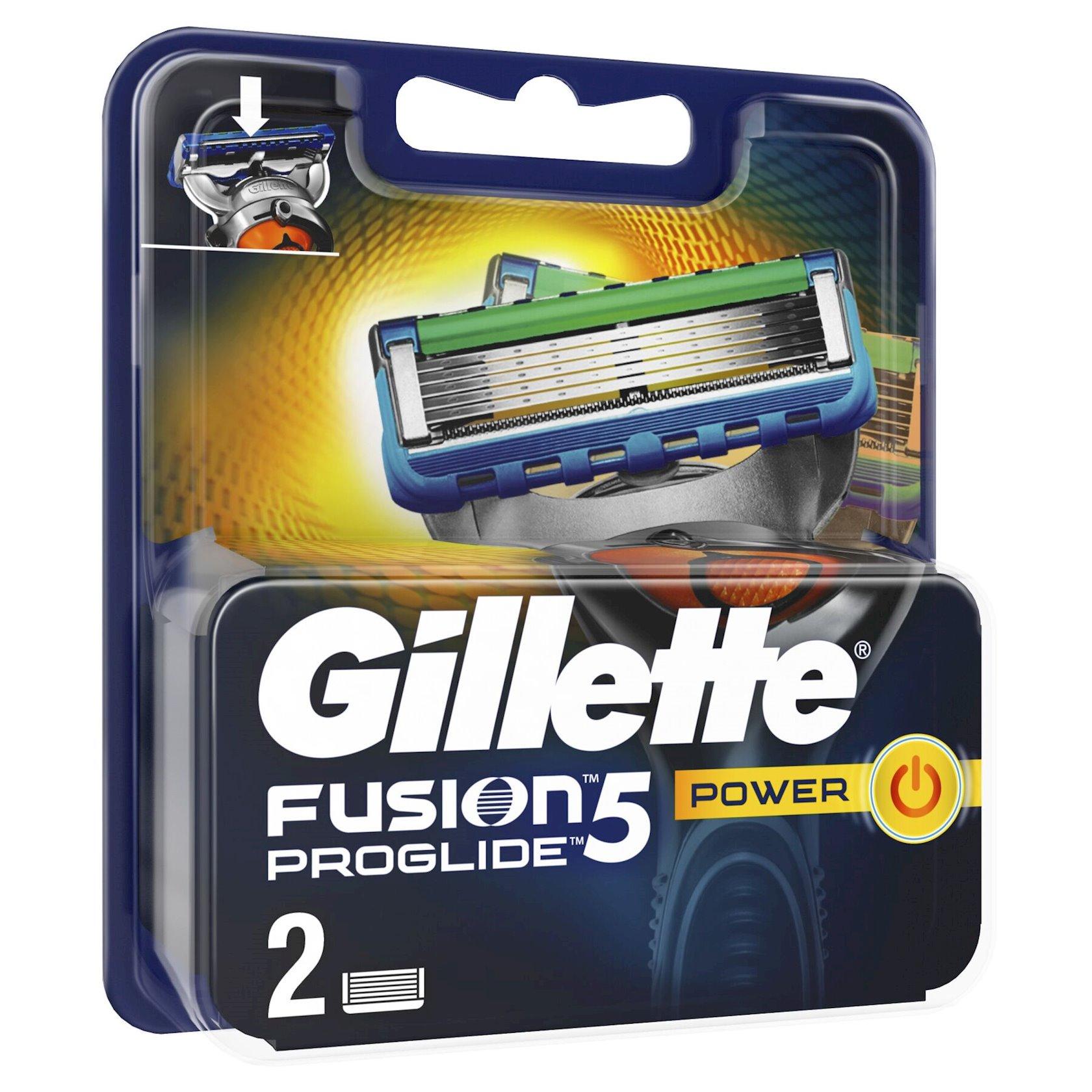 Dəyişdirilə bilən kassetlər Gillette Fusion ProGlide Power 2 ədəd