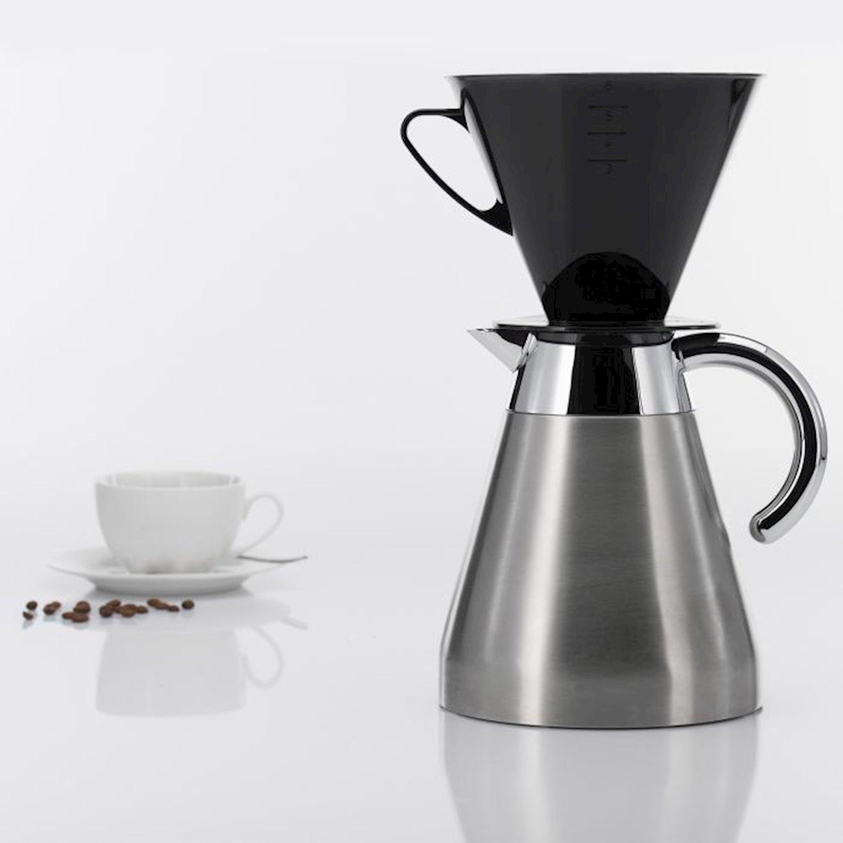 Kofe üçün filtr Westmark, 6 fincan üçün, qara