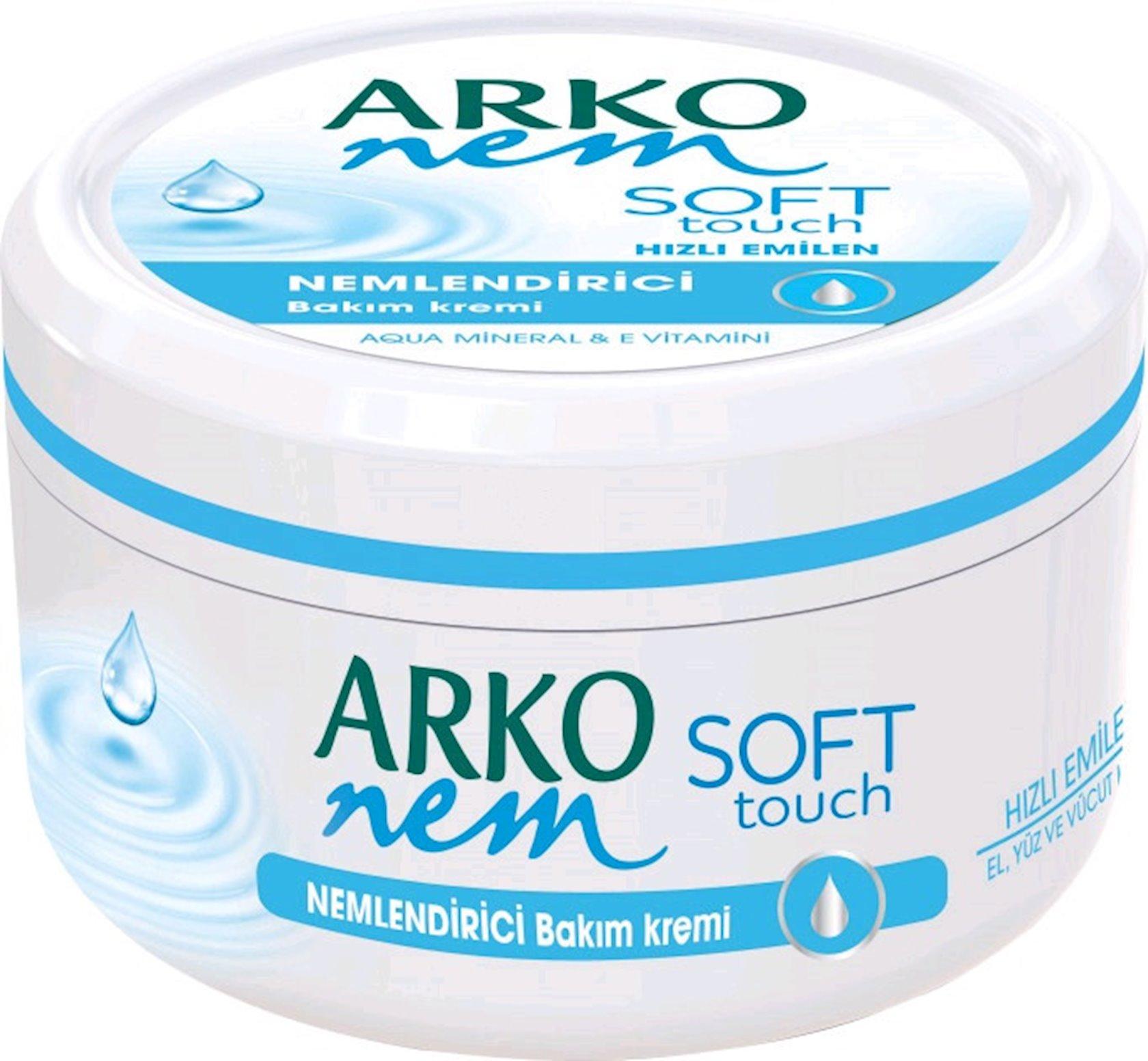 Krem üz və bədən üçün nəmləndirici krem Arko Soft touch 300 ml