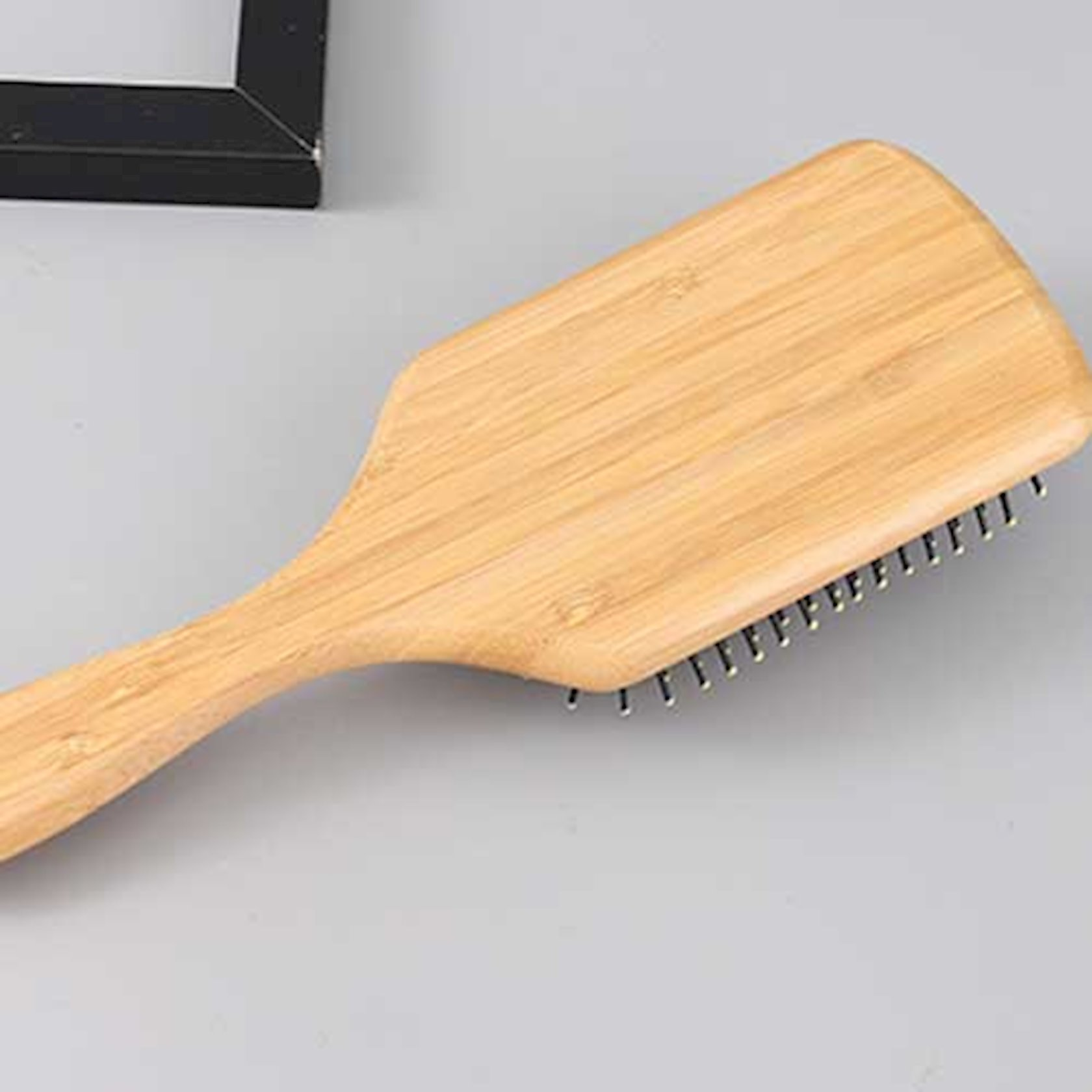 Saç üçün daraq bambuk materialı kvadrat Ximivogue böyük ölçü