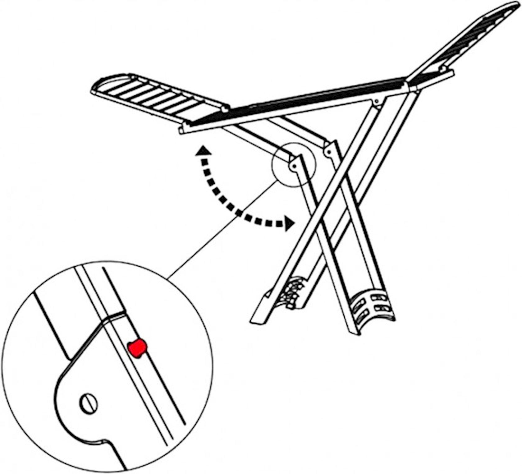 Paltarasan qurutma üçün Gimi Zaffiro, ağ, 88x181.5x55 sm, 4.85 kg