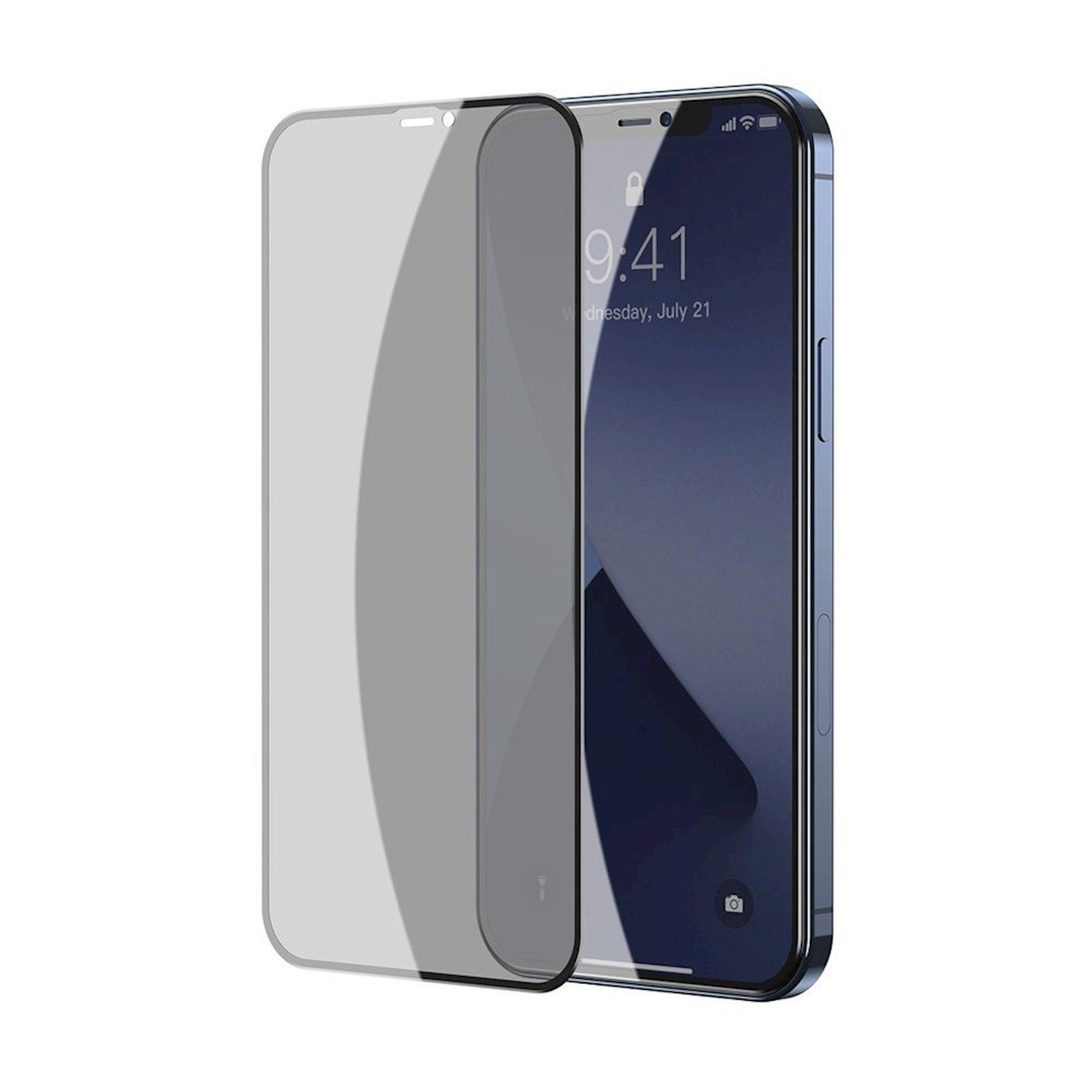 Qoruyucu şüşə Baseus for iPhone 12 Mini, 2 əd