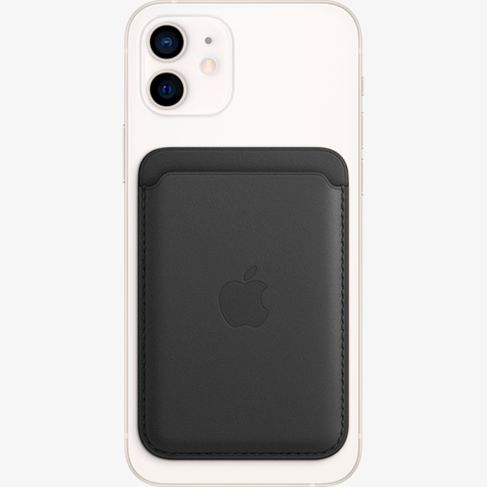 Dəri cib MagSafe Apple iPhone  12 Series üçün Black