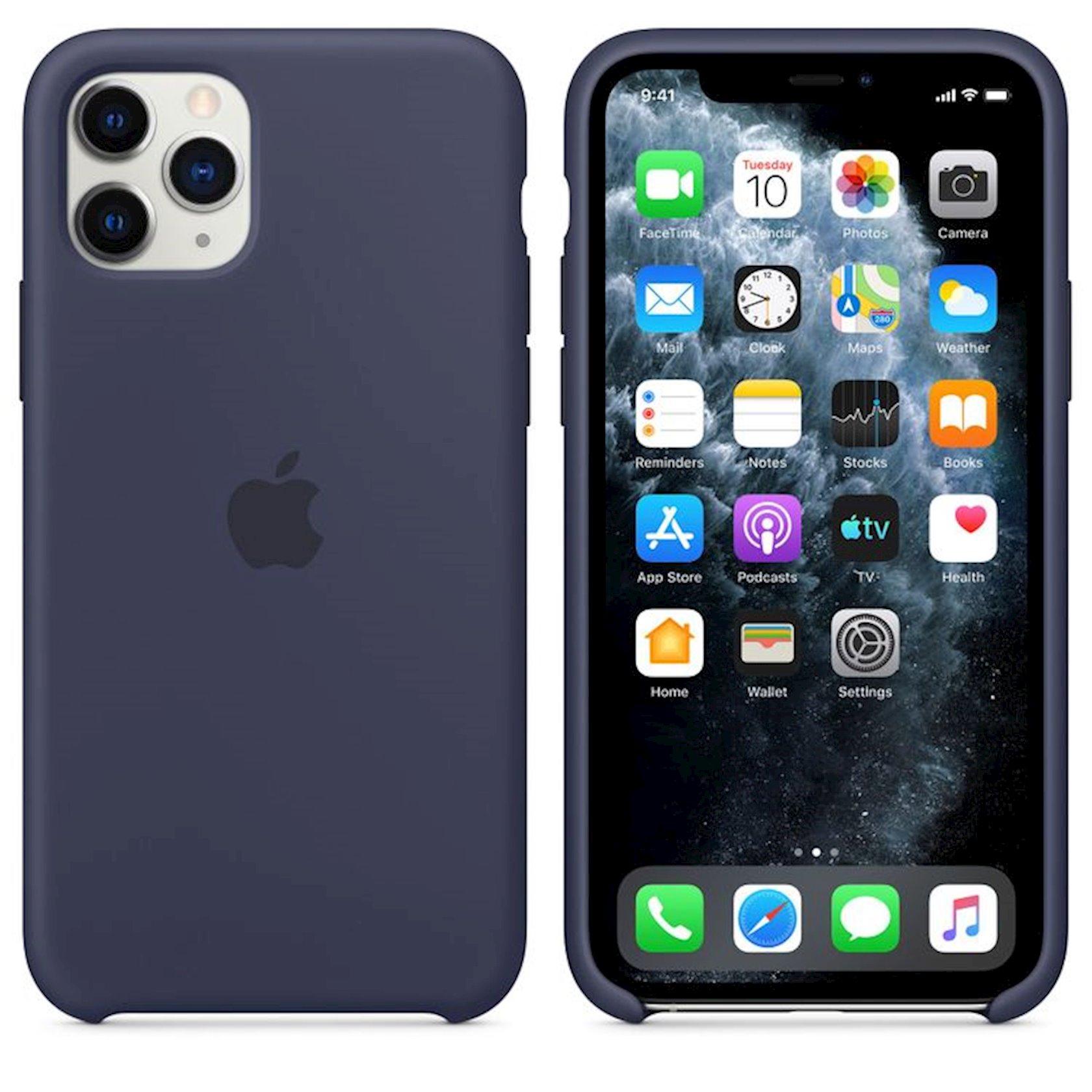 Çexol Silicone Case Apple iPhone 11 Pro Max üçün Midnight Blue