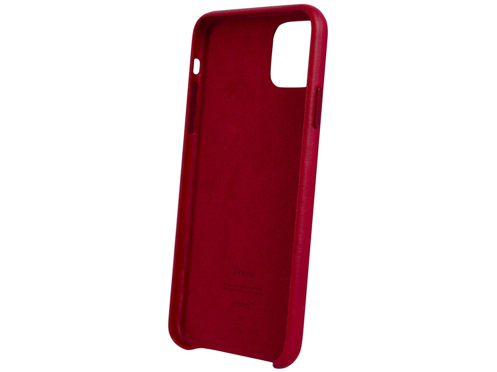 Çexol Leather Case Apple iPhone 11 Pro Max üçün Red