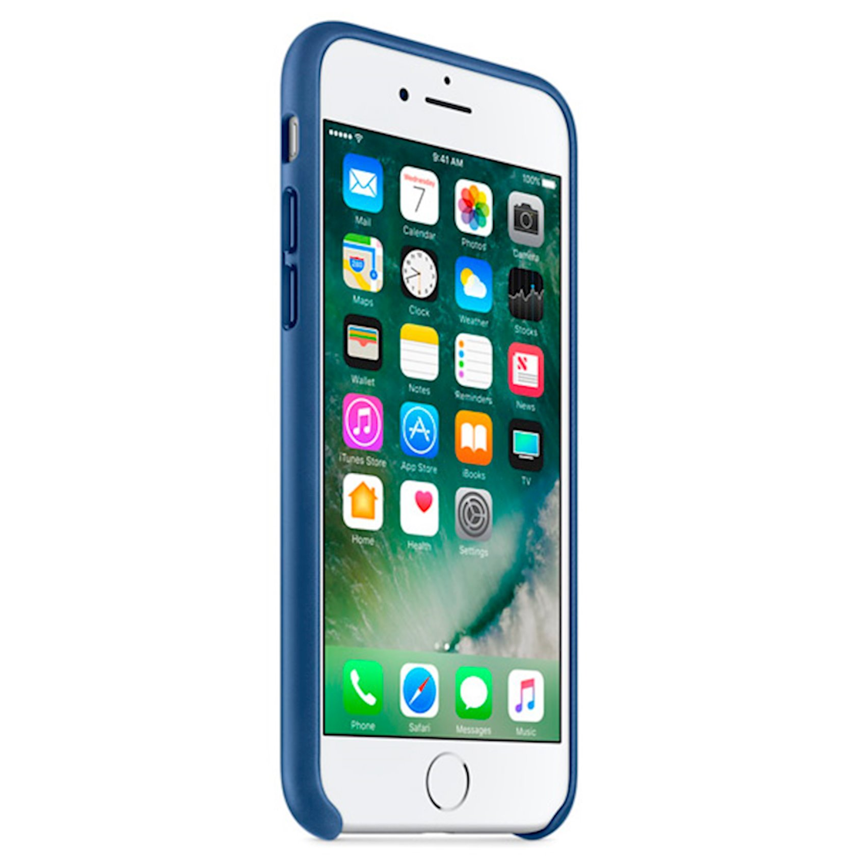 Çexol Leather Case Apple iPhone 7 üçün Sapphire