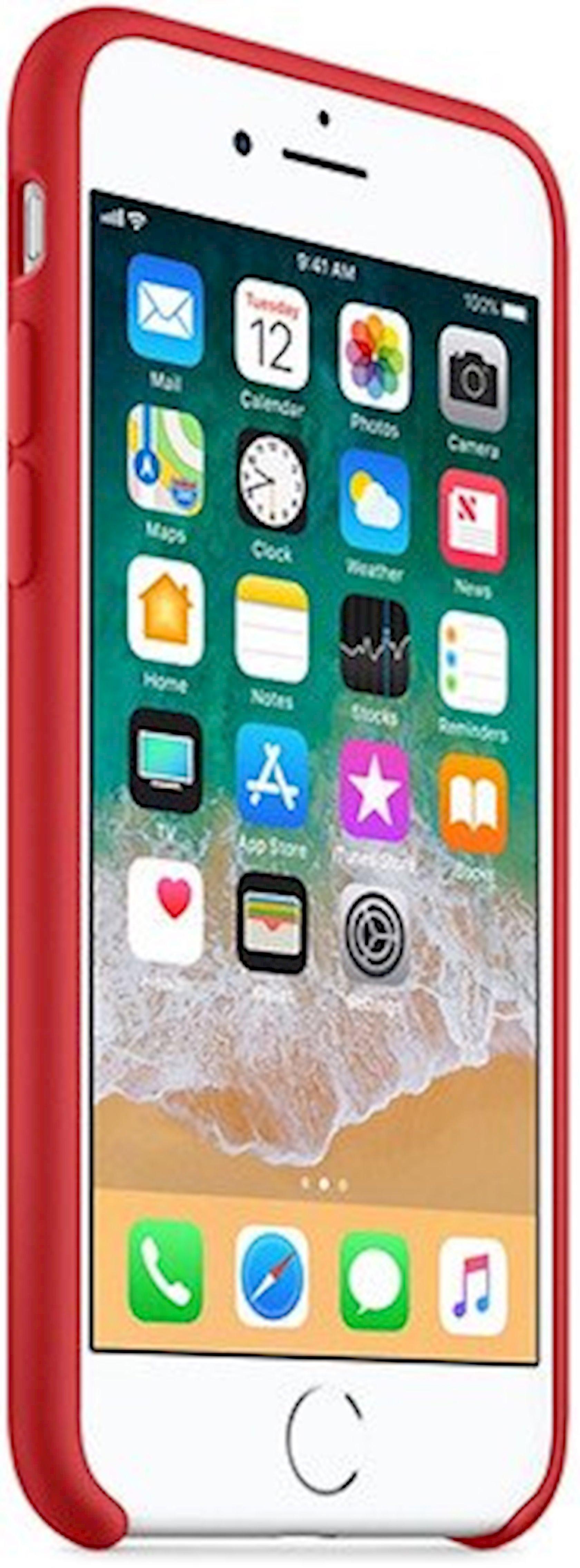 Çexol Silicone Case Apple iPhone 8/7 üçün  Red