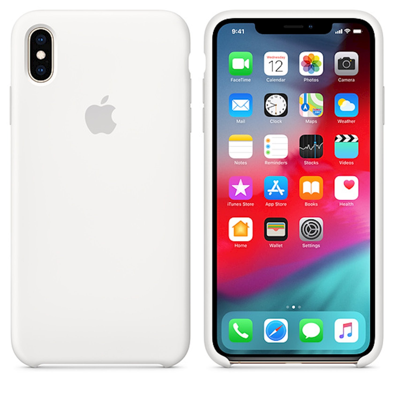 Çexol Silicone Case Apple iPhone XS Max üçün  White