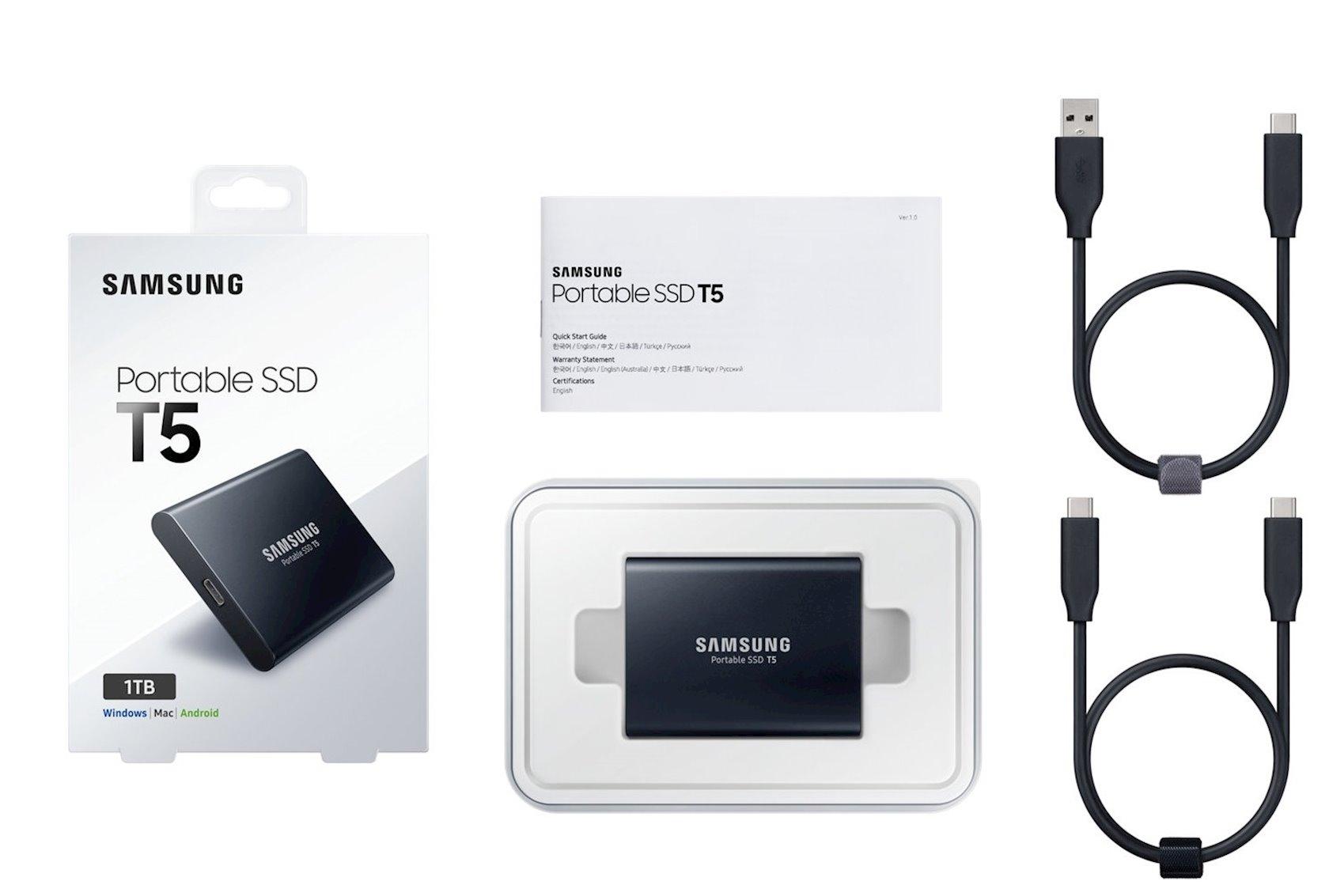 Portativ SSD Samsung T5 (MU-PA1T0B/WW)
