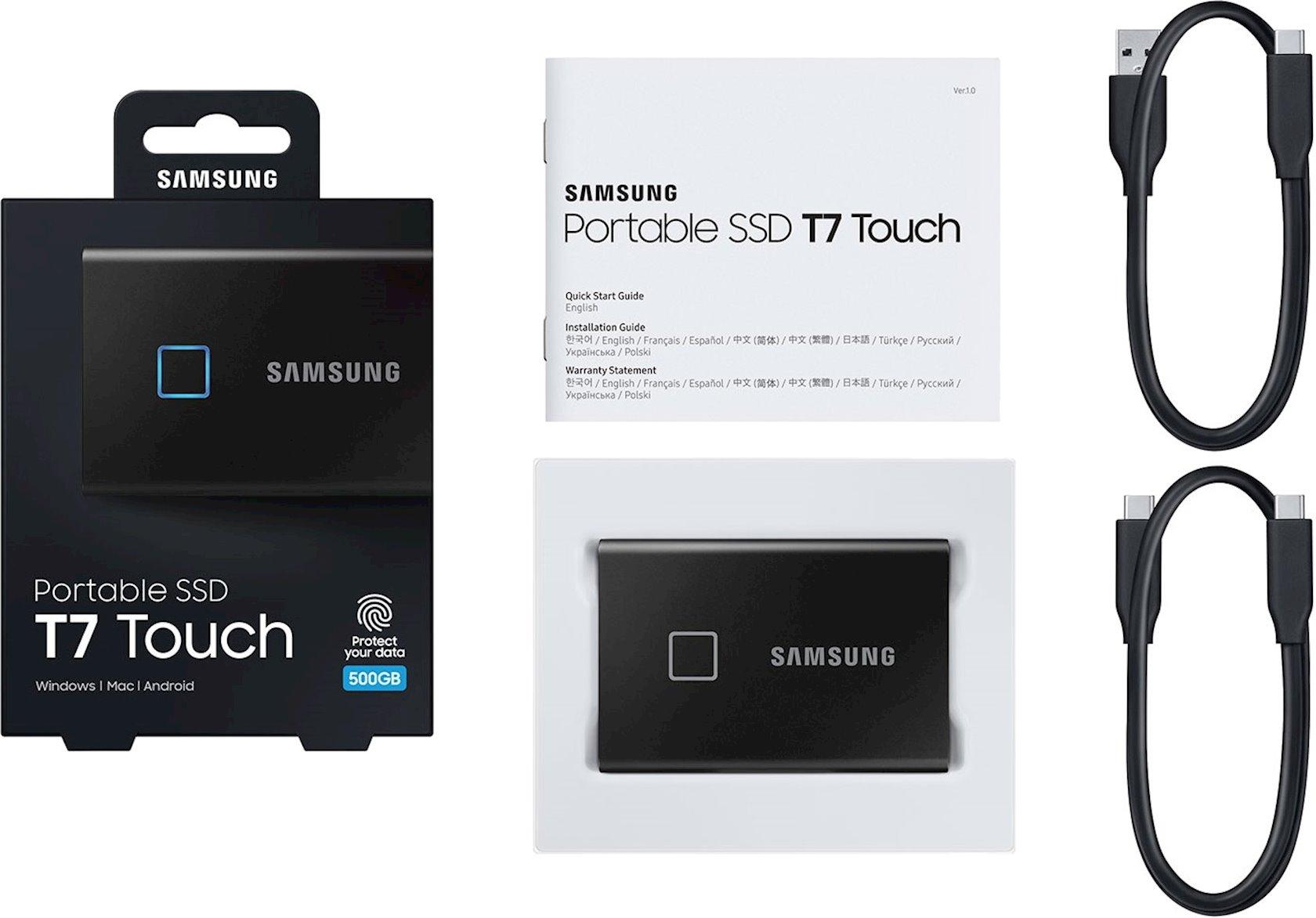 Portativ SSD Samsung T7 Touch (MU-PC500K/WW)