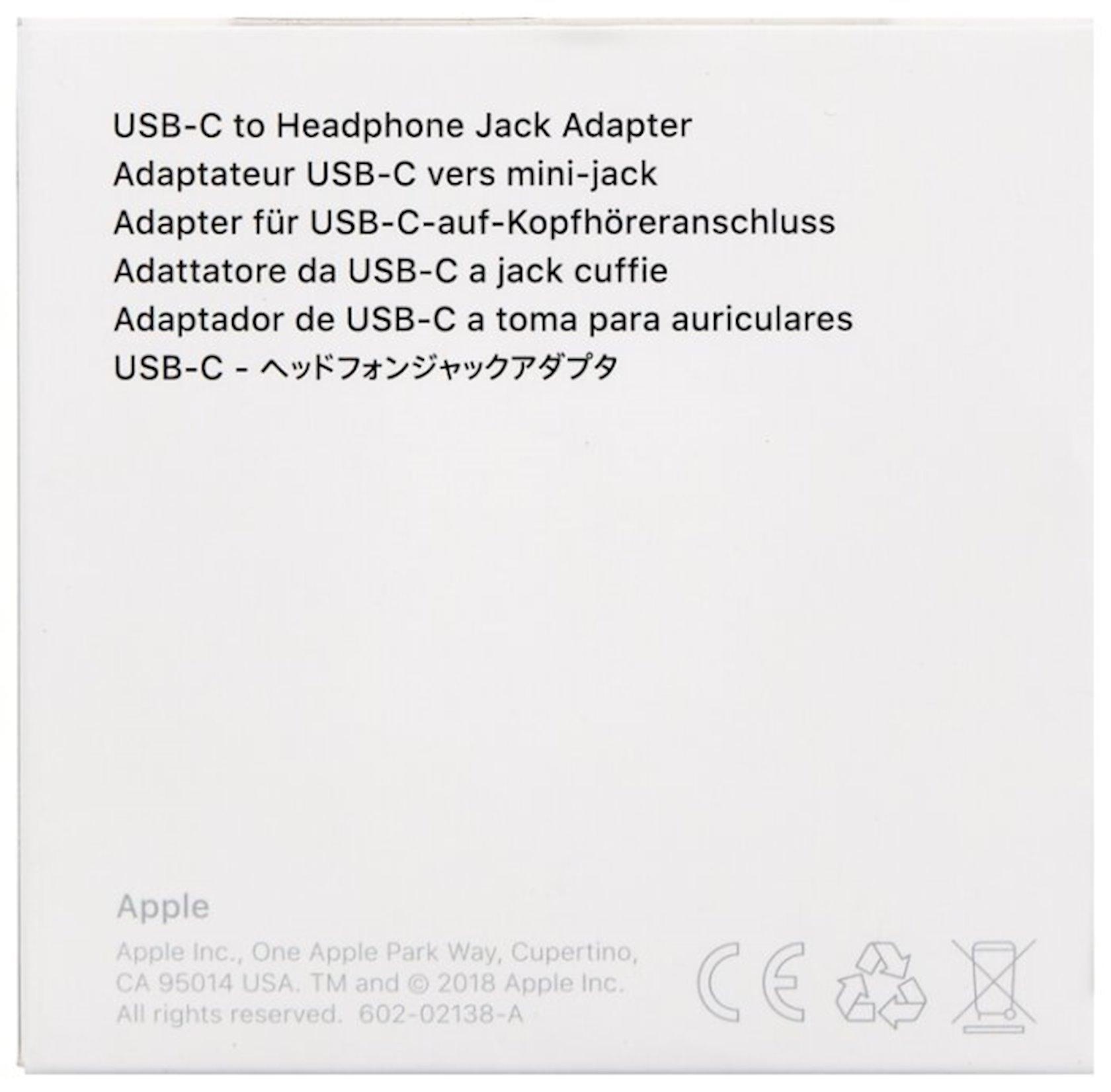 Çevirici Apple USB Type-C - mini jack 3.5