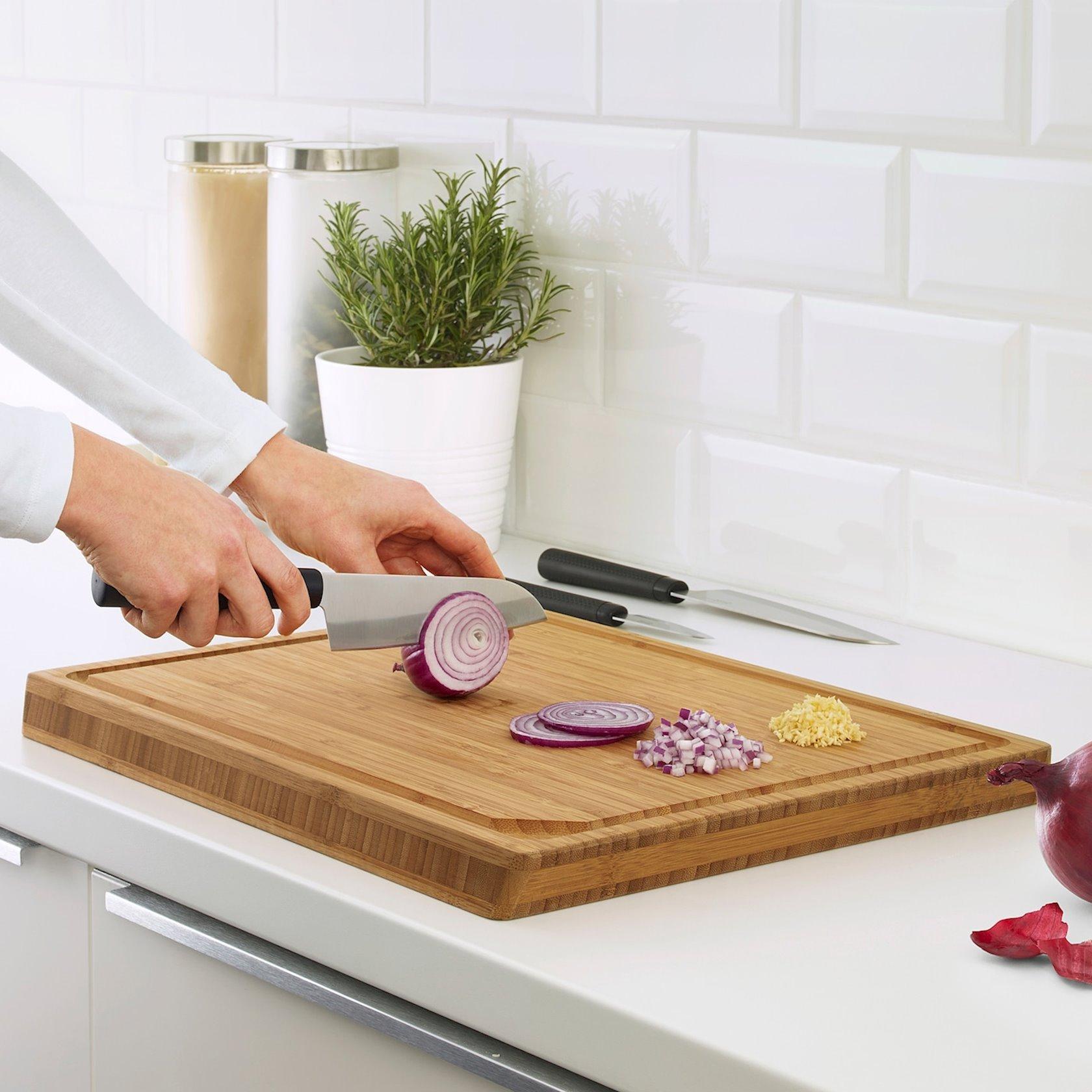 Bıçaqlar dəsti IKEA Forslag, 3 əşya. Material: Paslanmayan polad, Polipropilen, Sintetik kauçuk, Yapışmayan örtük.