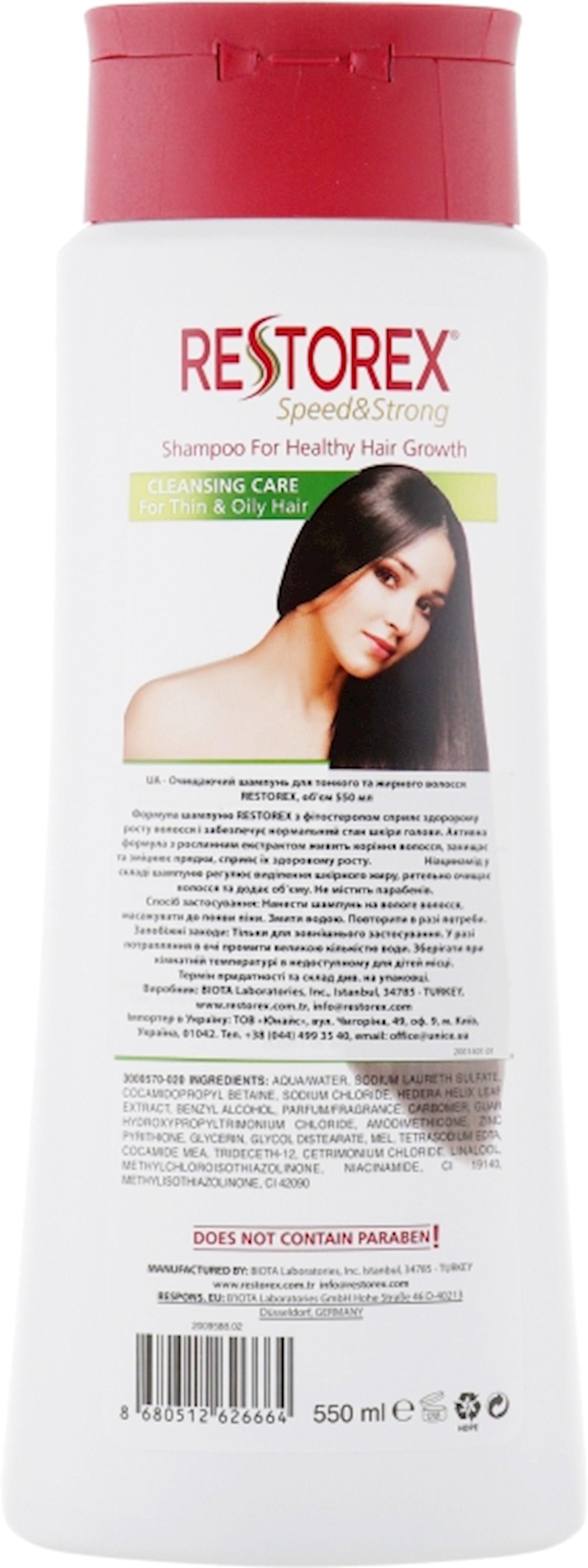 Şampun Restorex nazik və yağlı saçlar üçün 500 ml