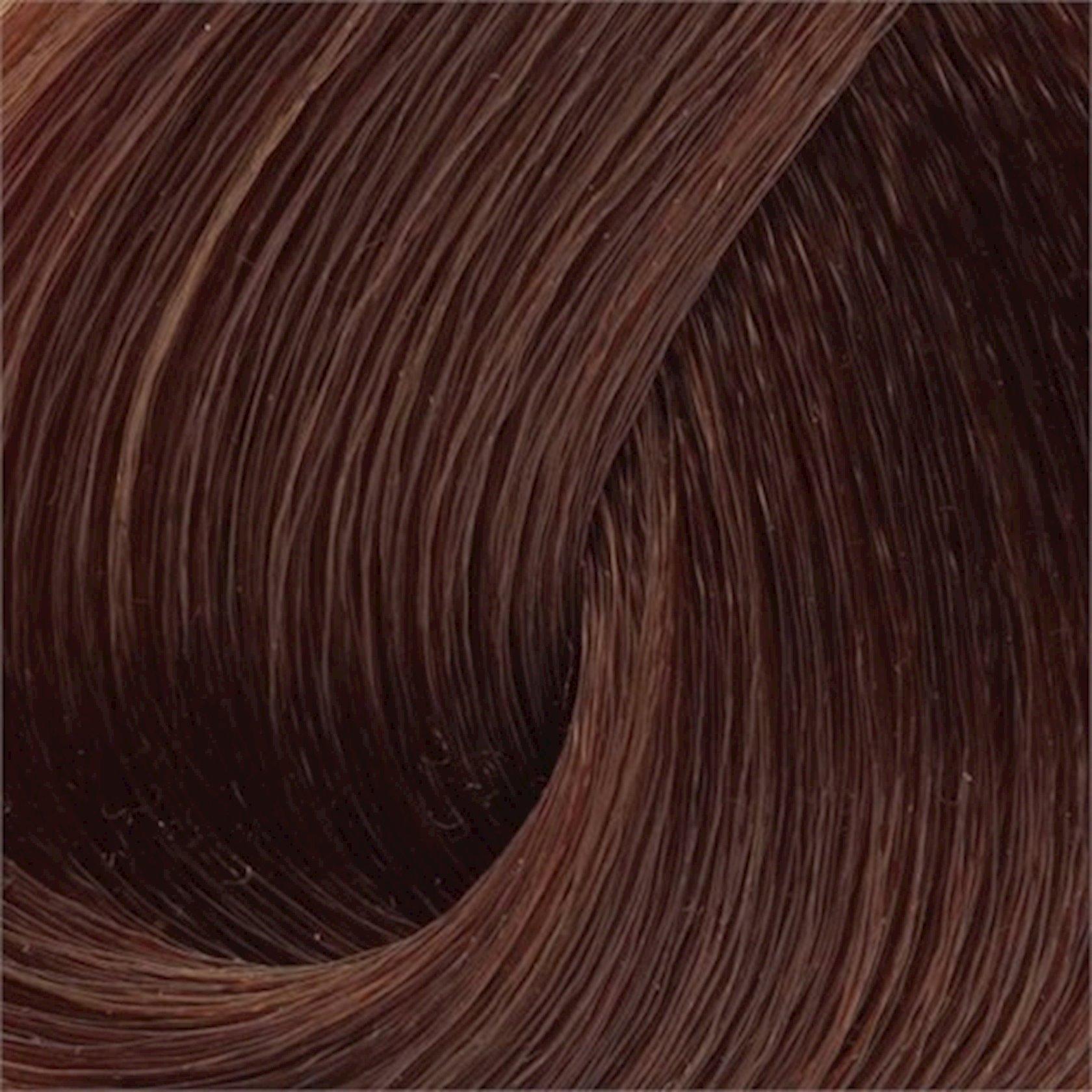 Saç üçün qalıcı krem boya Exicolor Permanent Hair Color Cream 100 ml №6 Koyu Kumral, Tünd şabalıdı