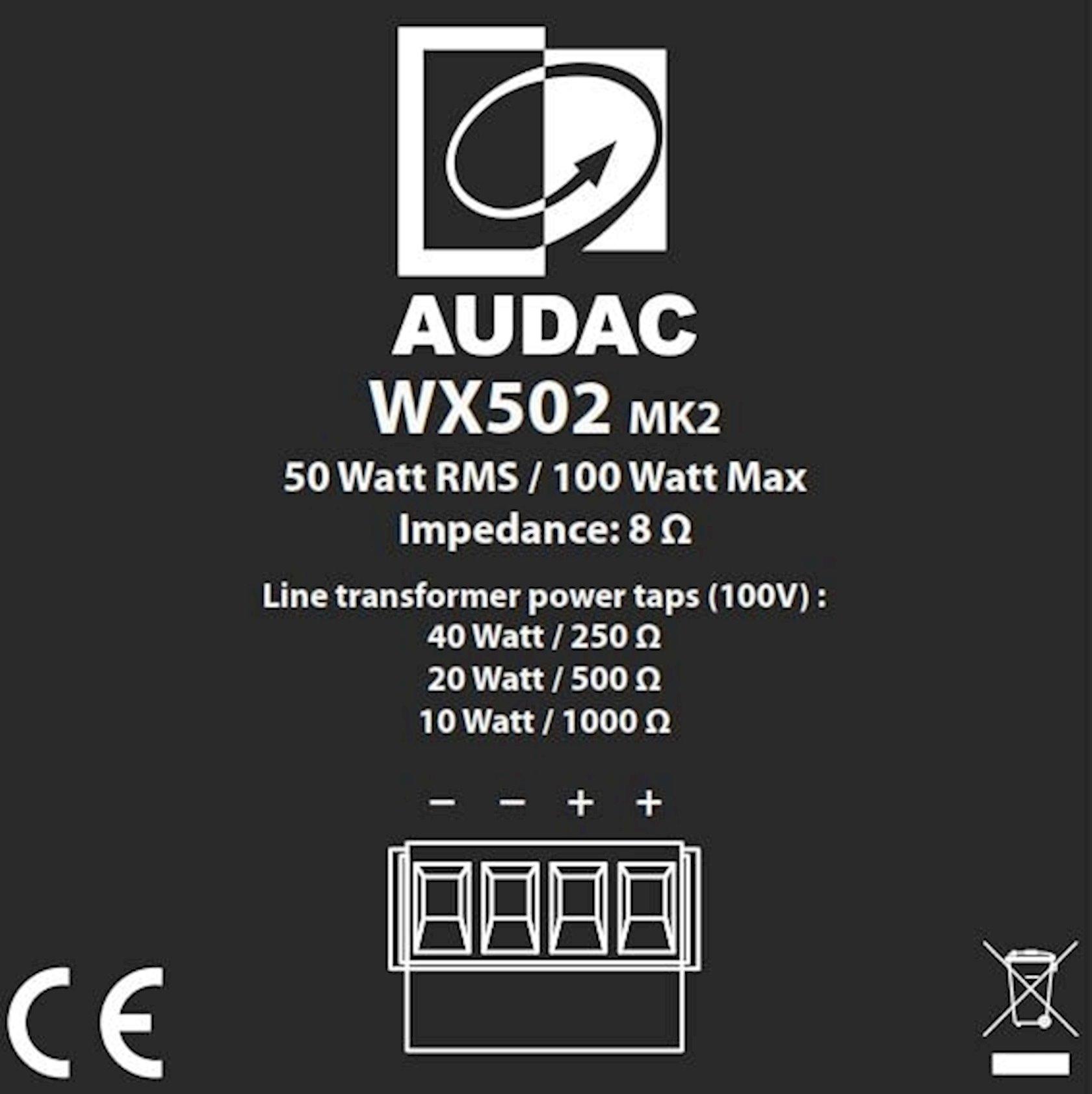 Akustik sistem Audac WX802MK2/B