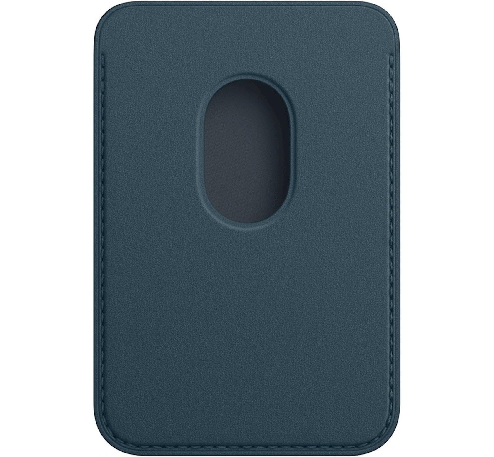 Dəri cib MagSafe Apple iPhone  12 Series üçün  Blue
