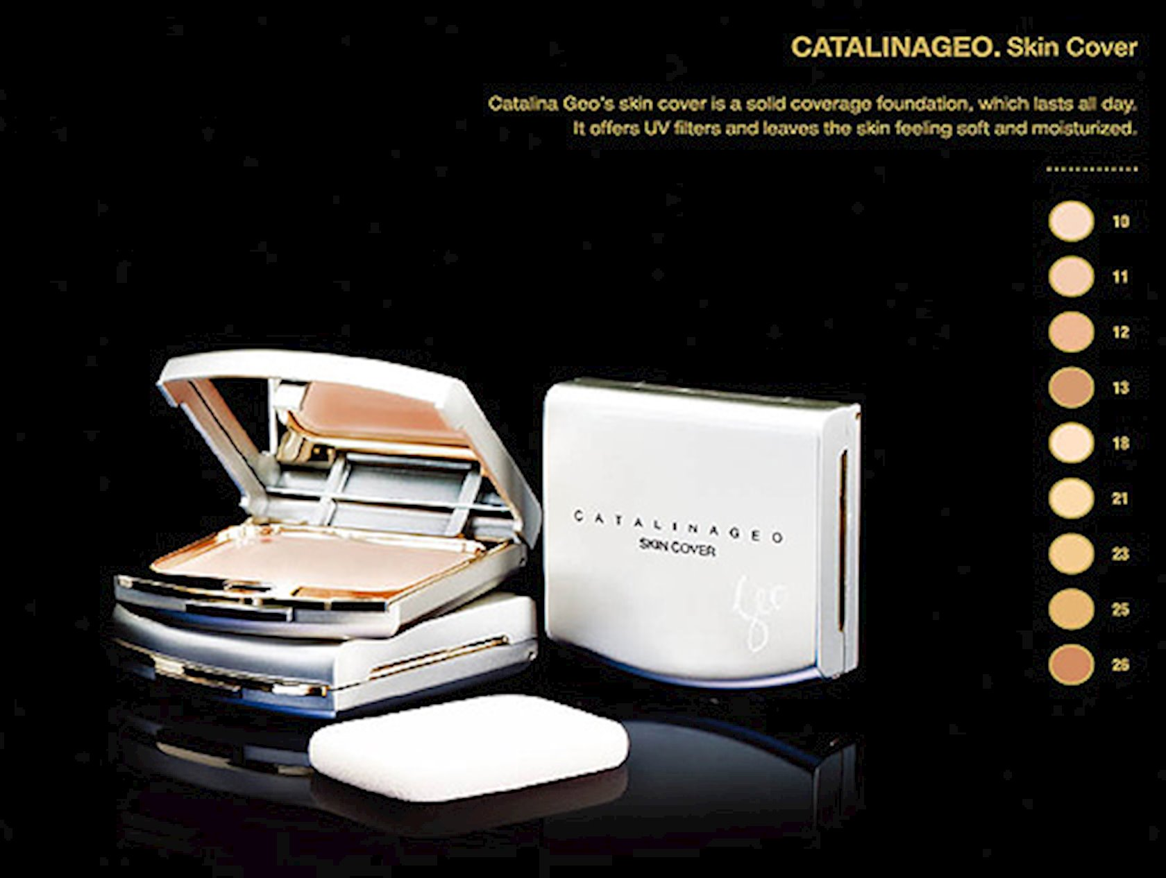 Kompakt krem-kirşan Catalina Geo Skin Cover 10 Rose Pink, 13 q