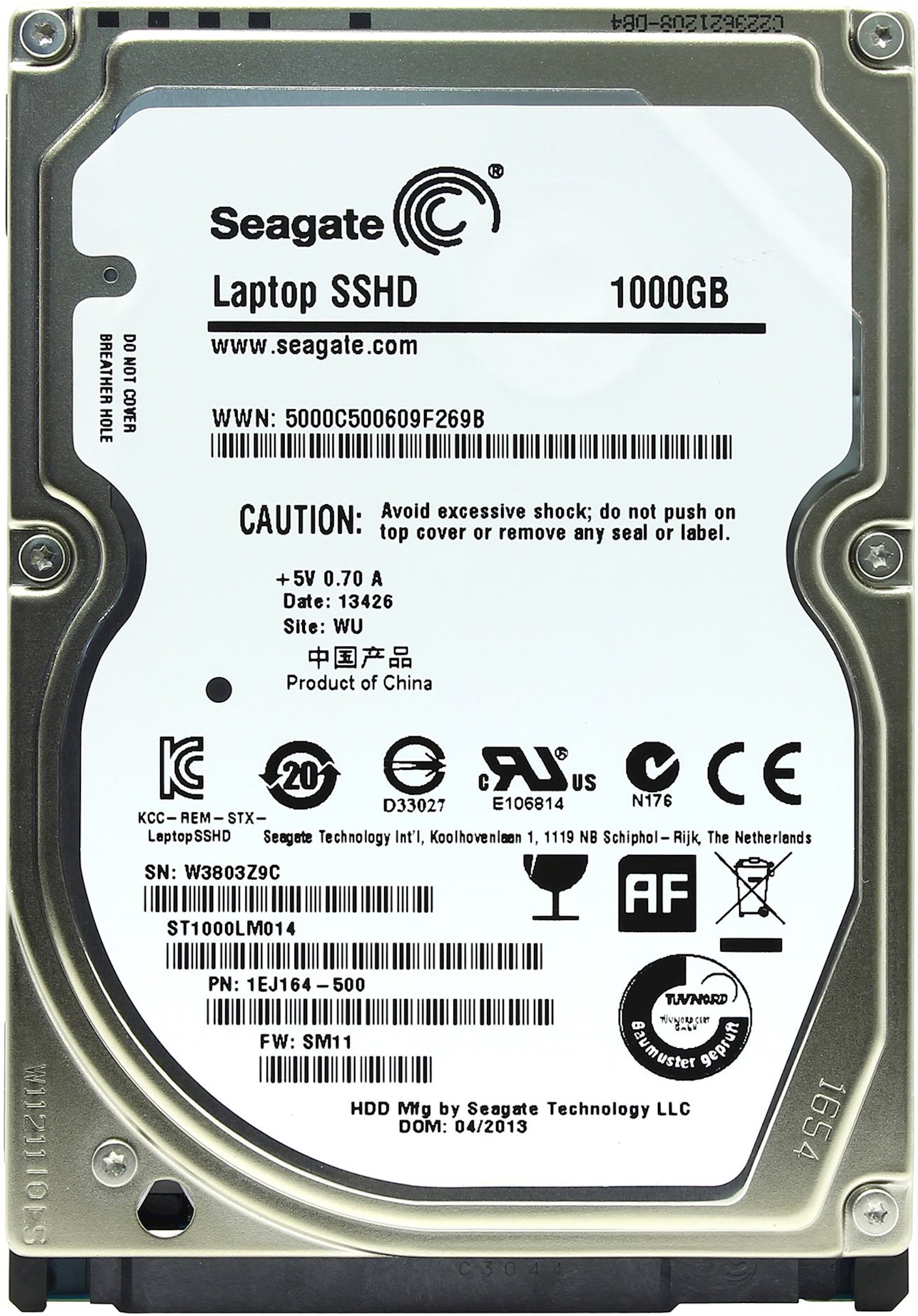 Sərt HDD+SSD disk Seagate ST1000LM014 1 TB