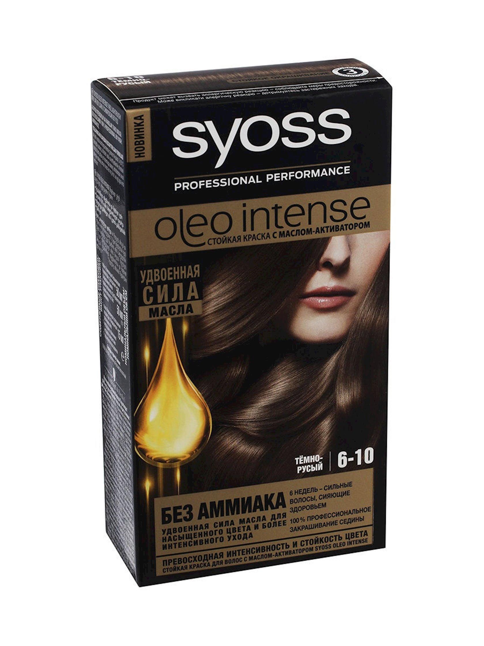 Saç boyası Syoss Oleo İntense ammonyaksız 6-10 Tünd xurmayı