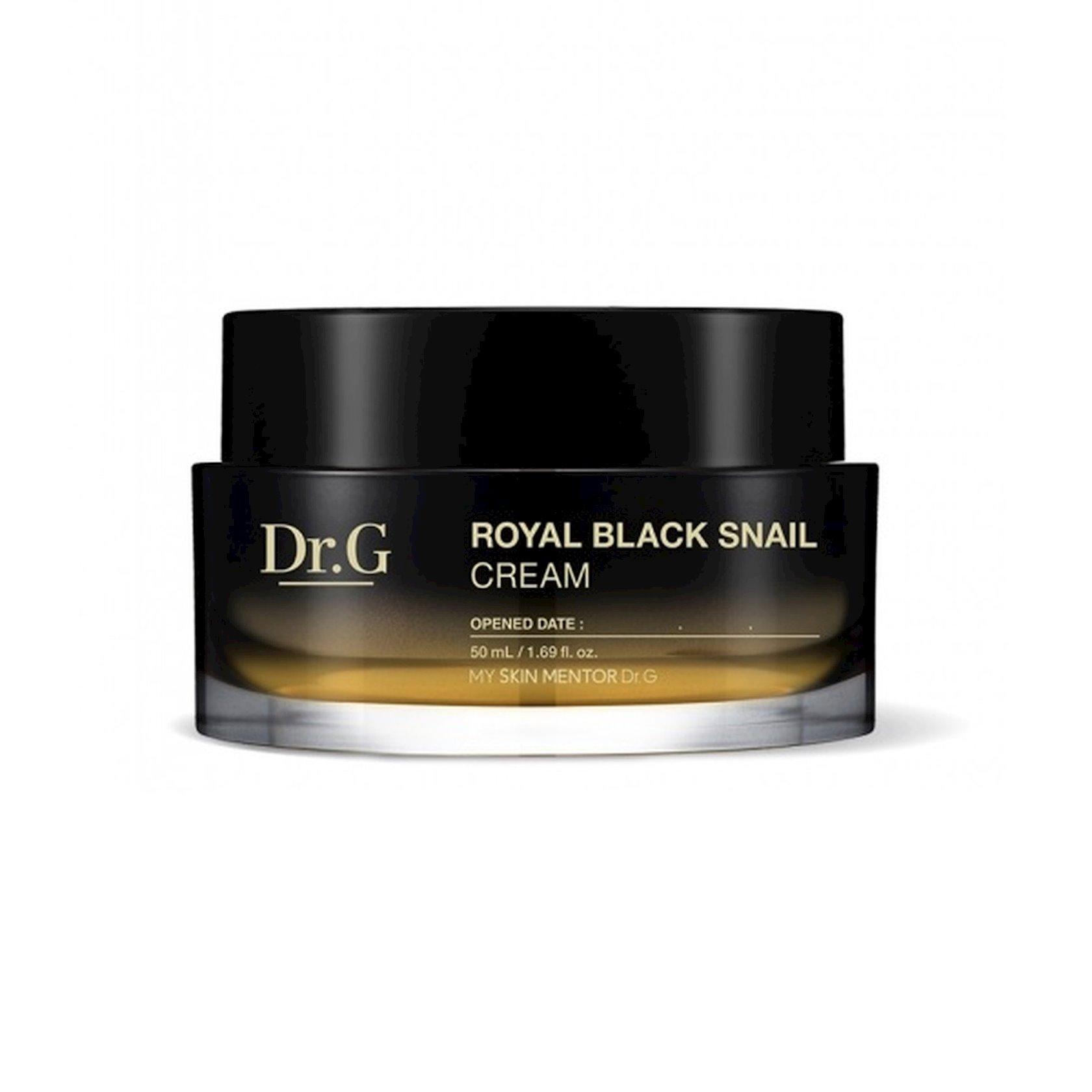 Yaşlanma əleyhinə krem qara ilbiz musin ilə Dr.G Royal Black Snail Cream 50 ml