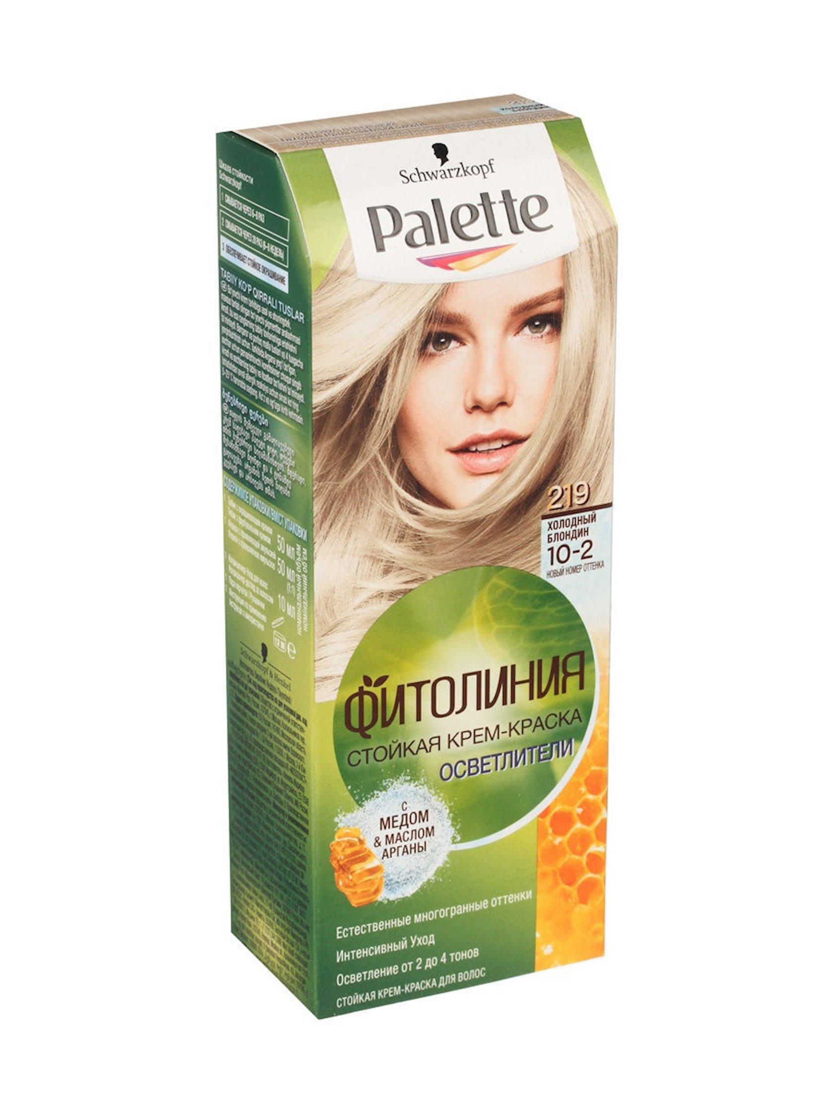 Saç boyası Palette Fitoliniya 219 10-2 Soyuq sarışın